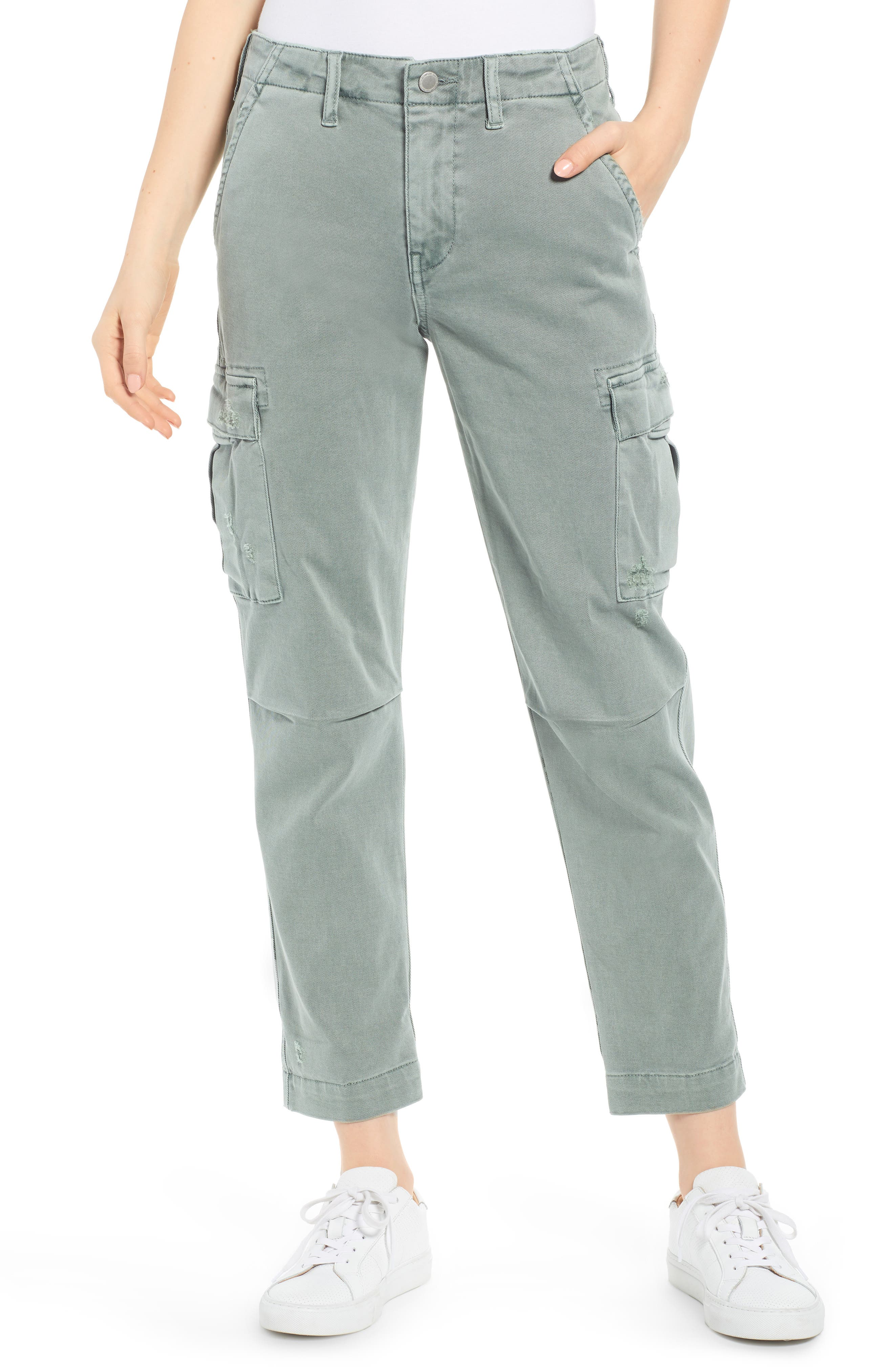 Hudson Jeans Jane Relaxed Cargo Pants, Green
