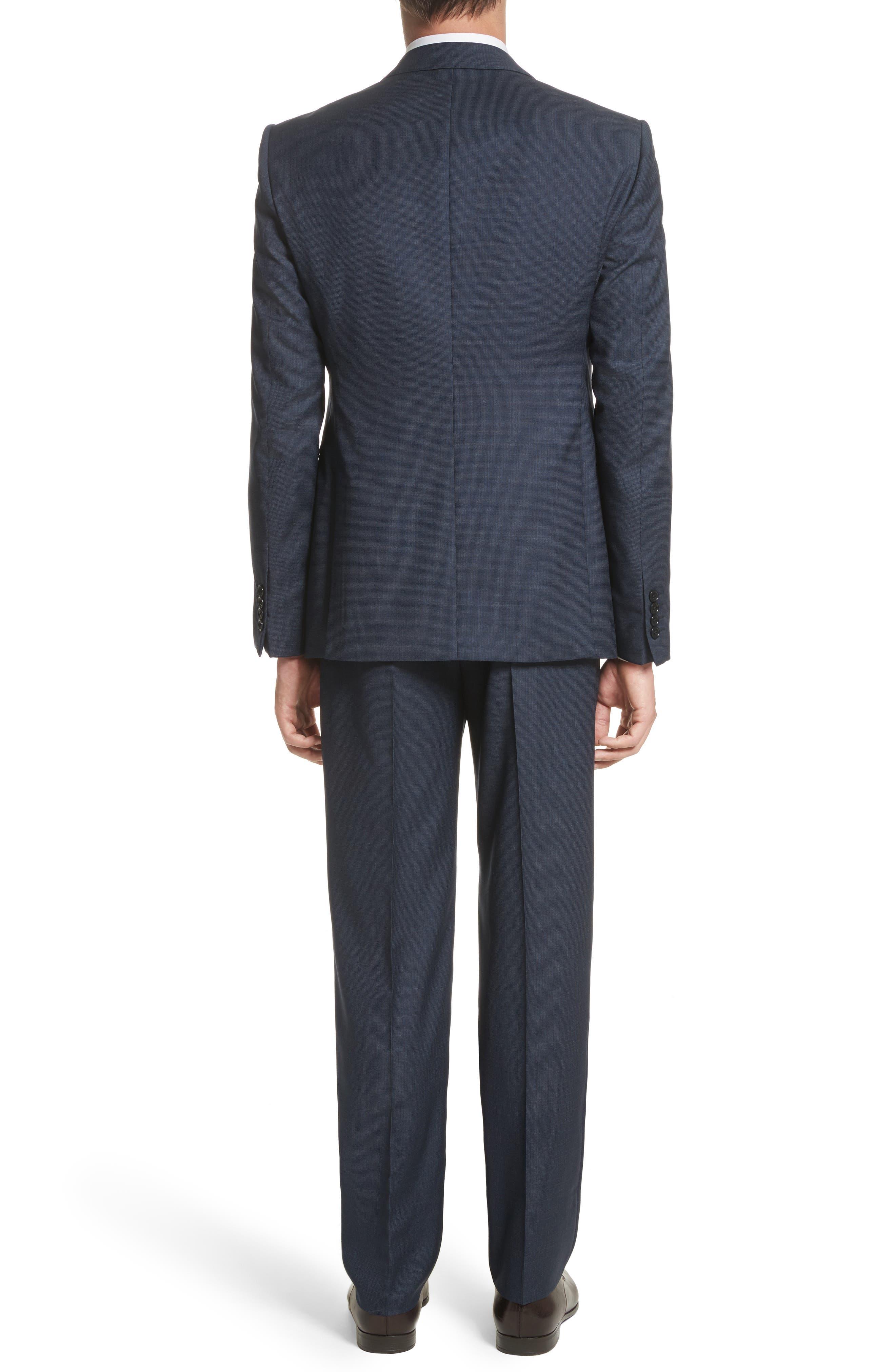 Emporio Armani M-Line Trim Fit Solid Wool Suit,                             Alternate thumbnail 2, color,