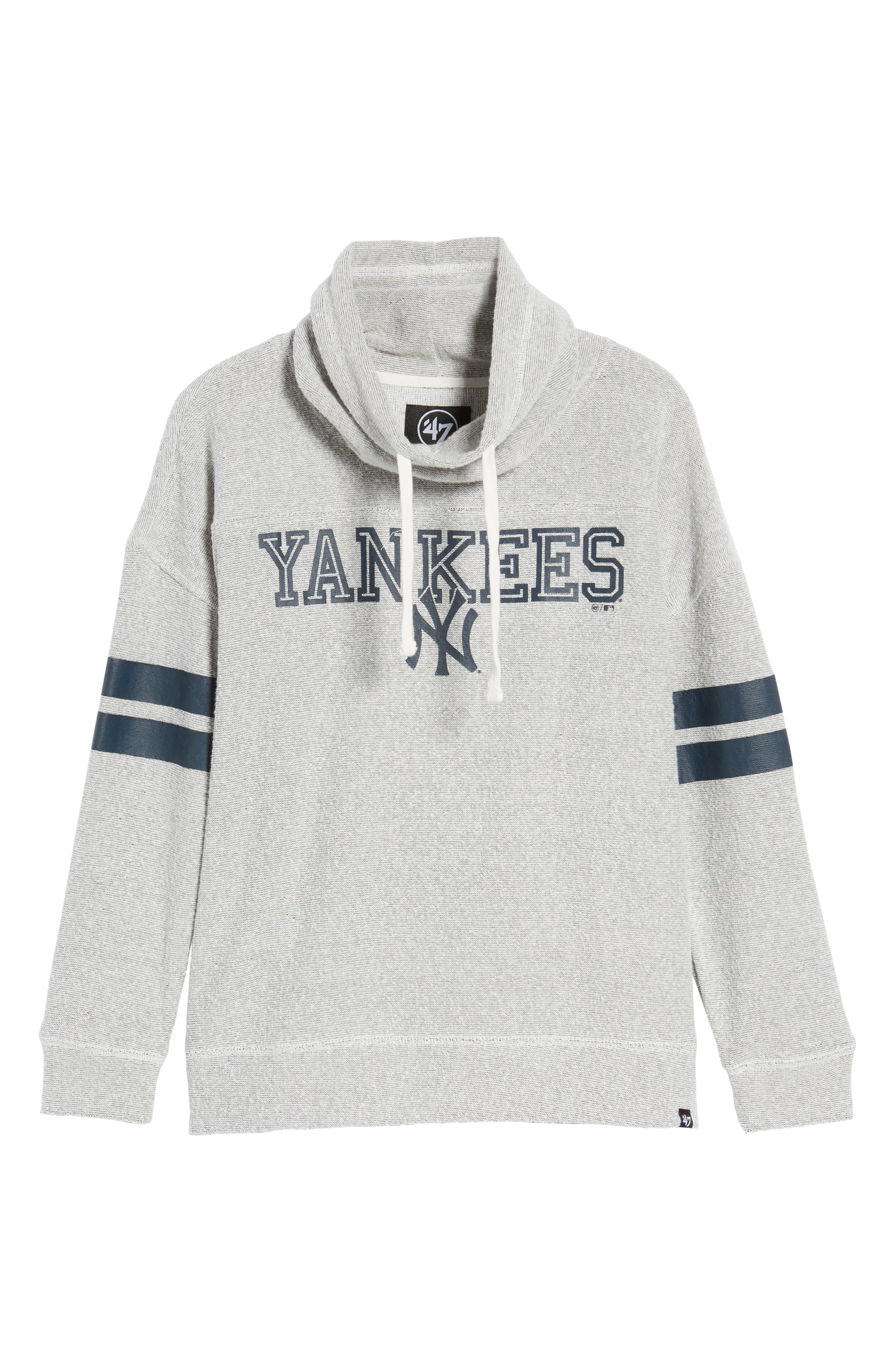 Encore Offsides New York Yankees Funnel Neck Sweatshirt,                             Alternate thumbnail 7, color,                             023