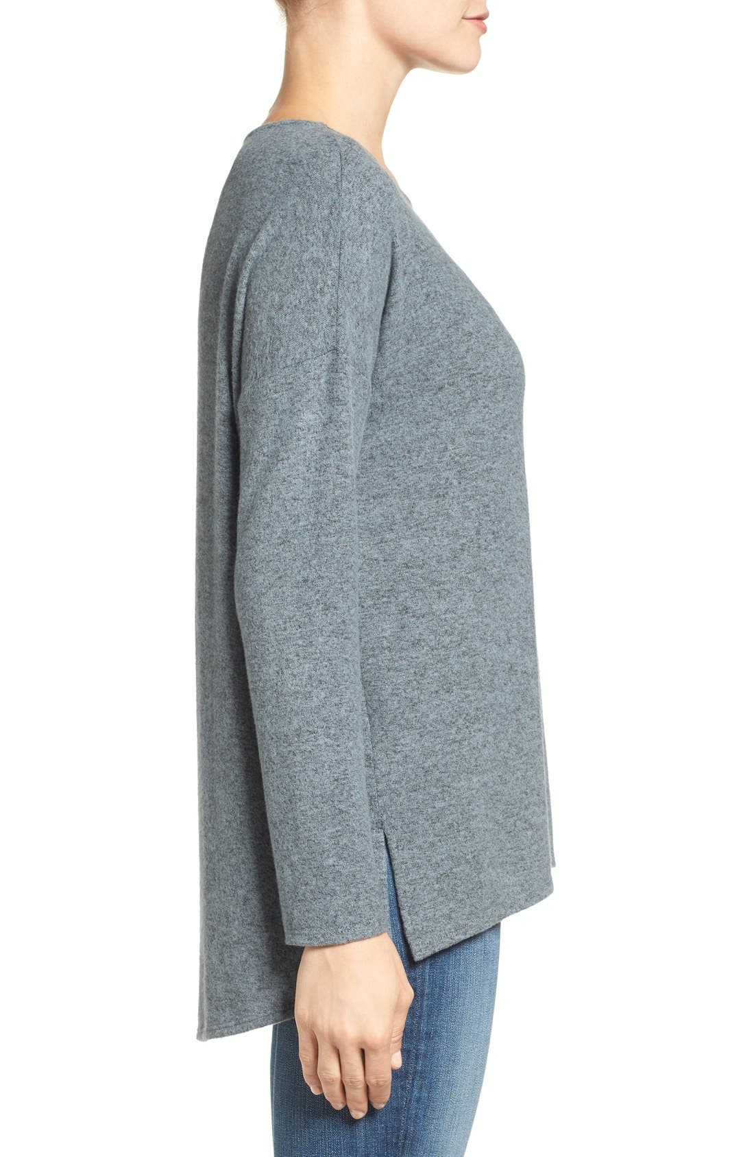 Cozy Ballet Neck High/Low Pullover,                             Alternate thumbnail 28, color,