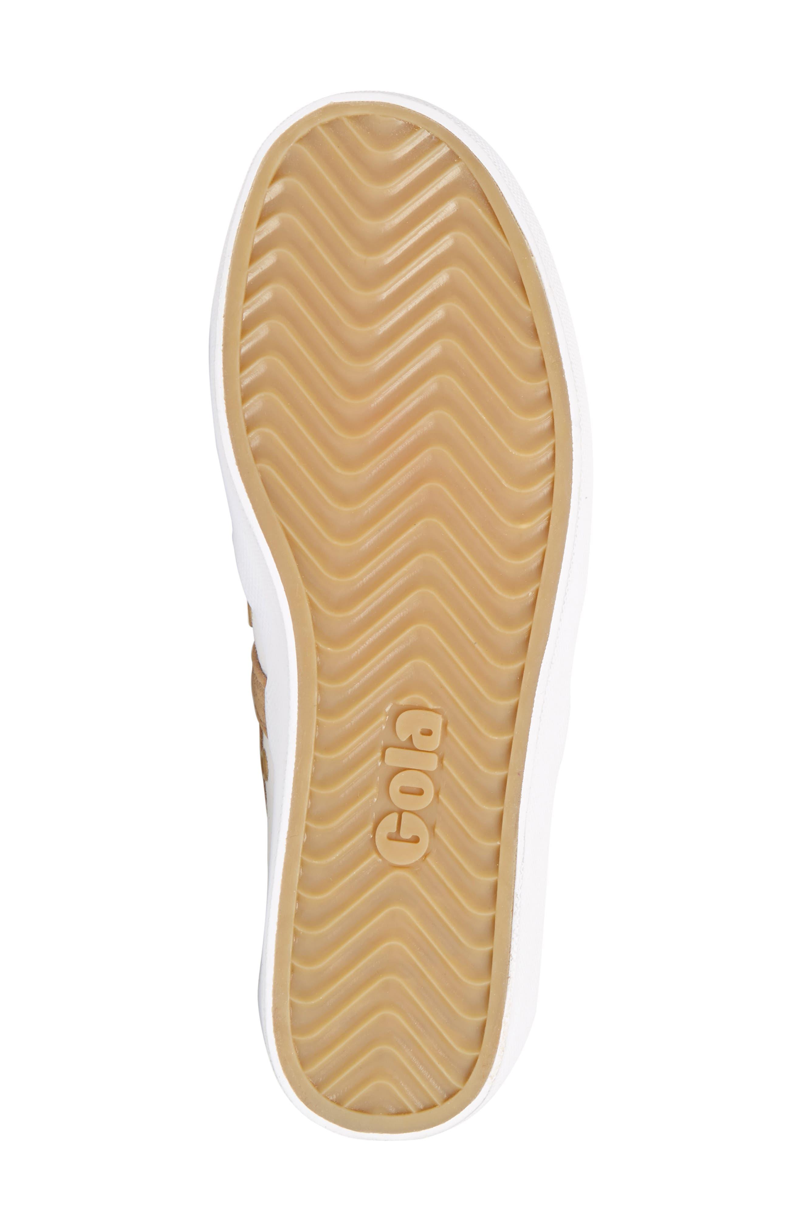 GOLA,                             Coaster Mirror Sneaker,                             Alternate thumbnail 6, color,                             WHITE/ GOLD