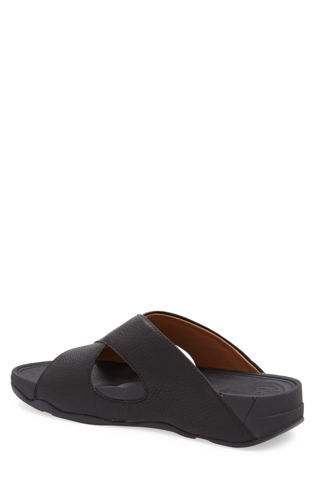 Xosa<sup>™</sup> Leather Slide Sandal,                             Alternate thumbnail 3, color,                             001
