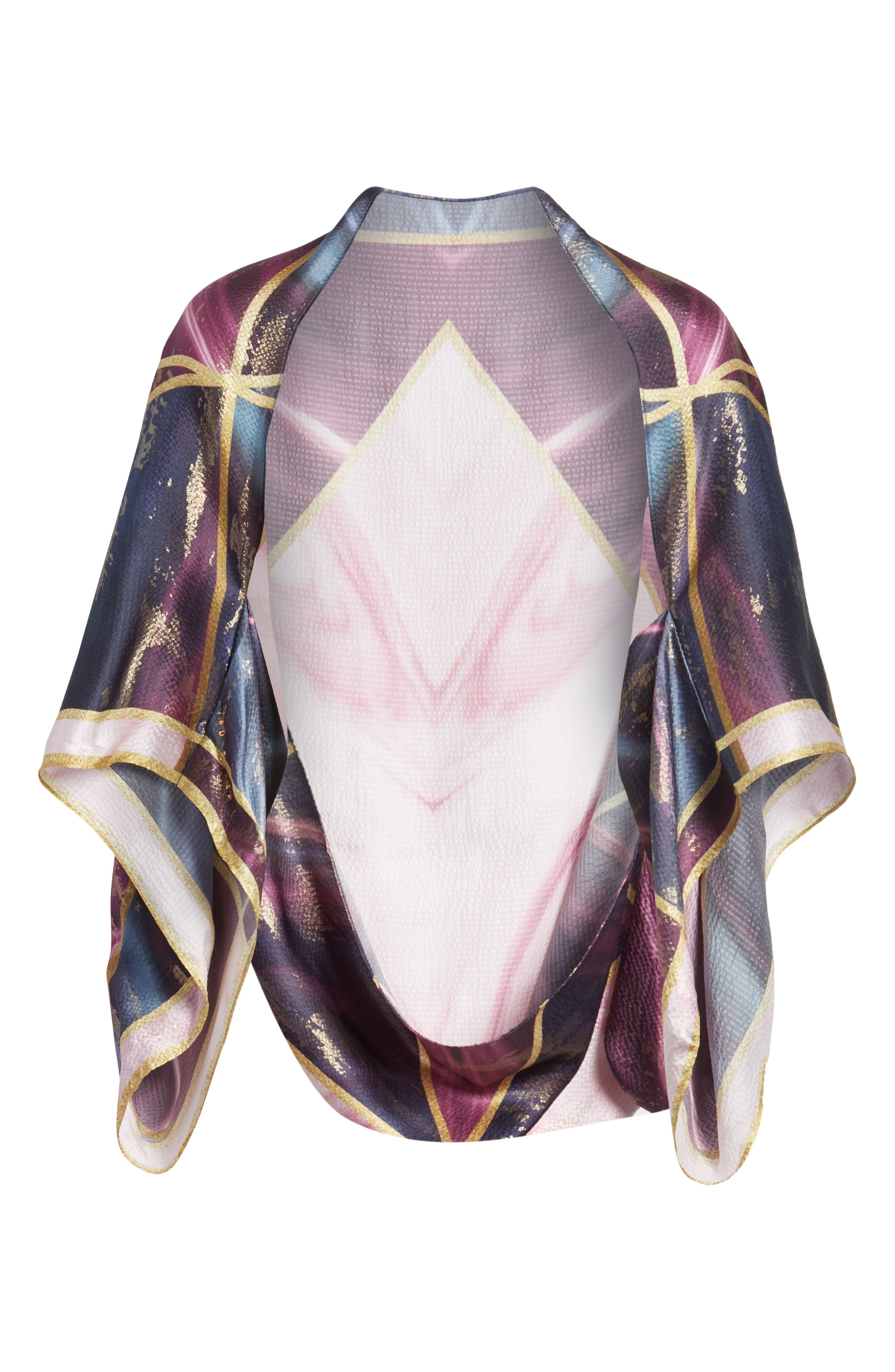Balmoral Marble Silk Scarf,                             Alternate thumbnail 6, color,