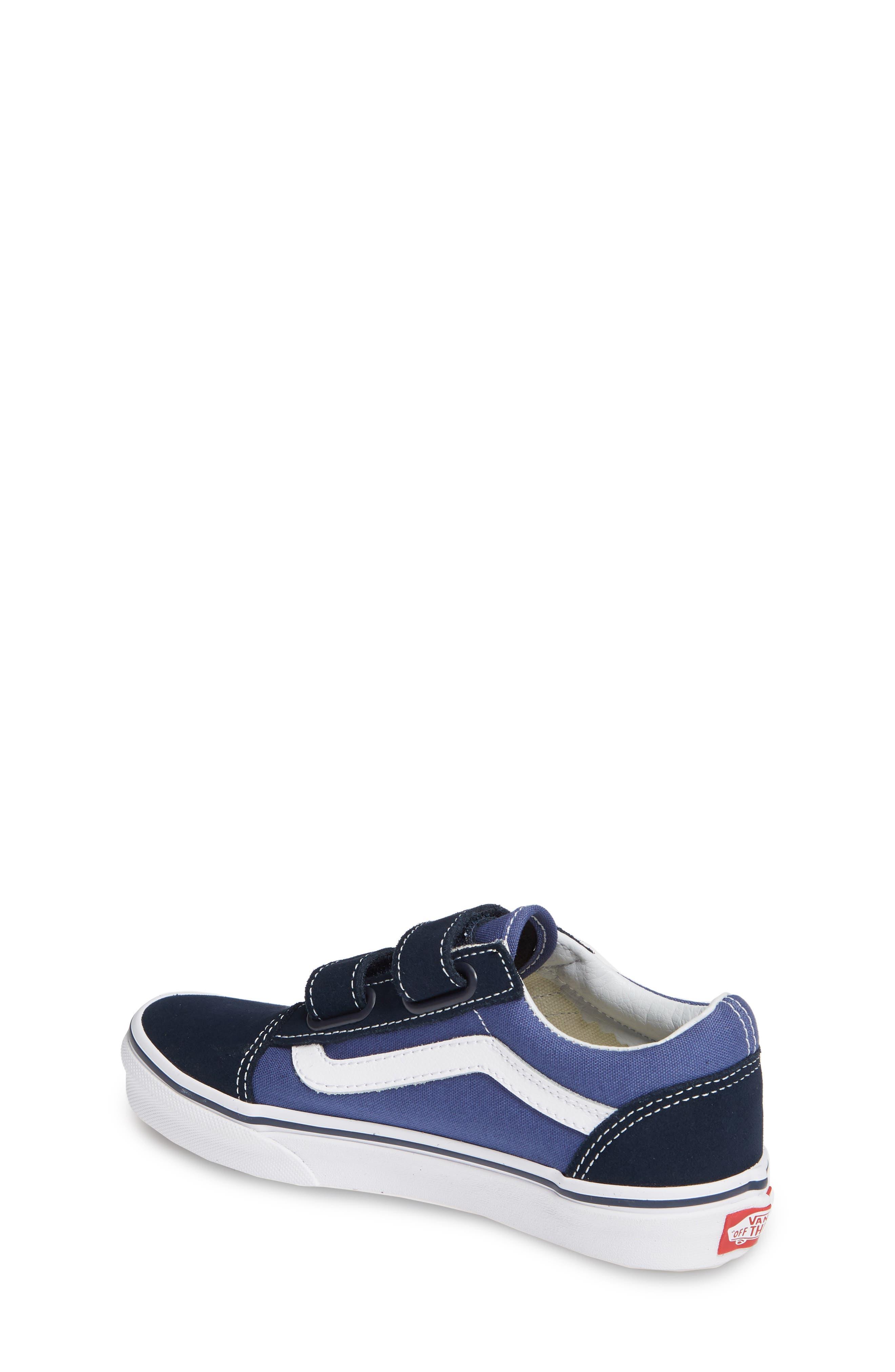 Old Skool V Sneaker,                             Alternate thumbnail 2, color,                             NAVY/ TRUE WHITE