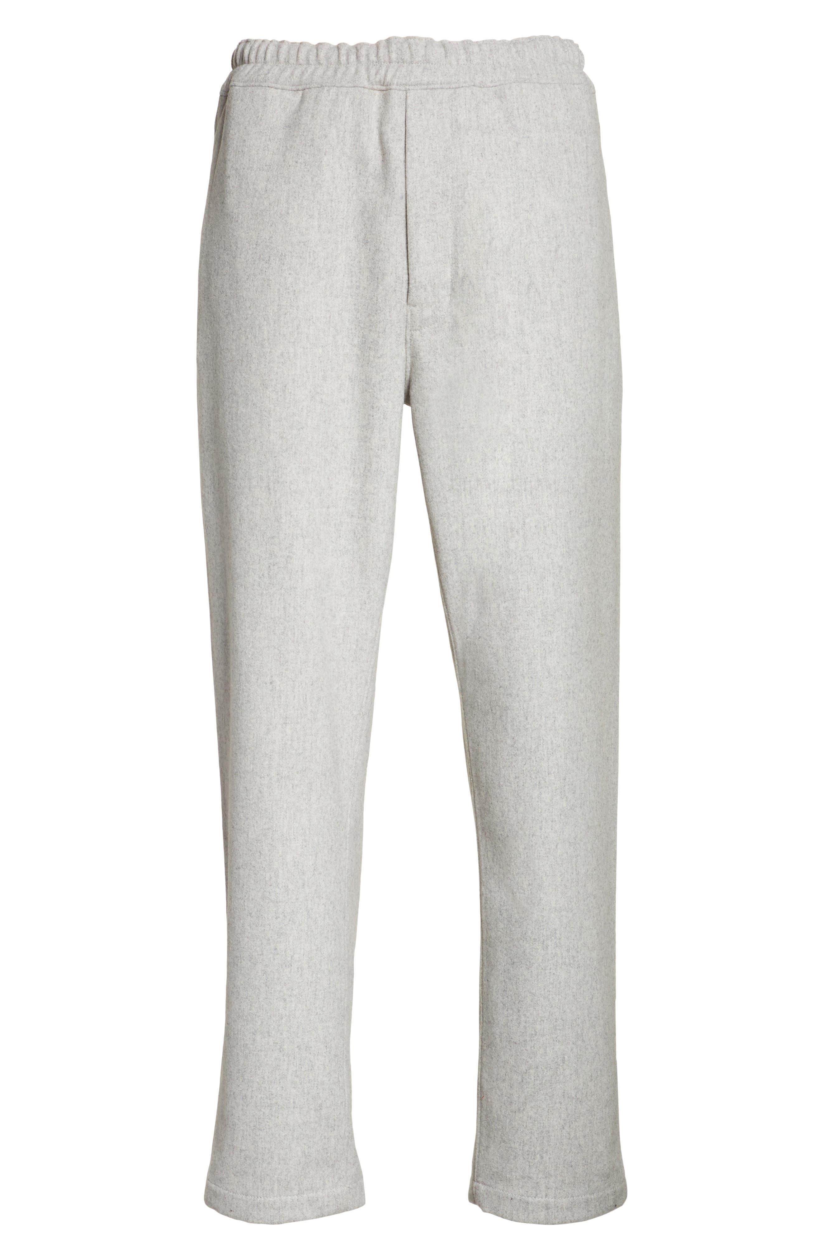 Mélange Wool Blend Trousers,                             Alternate thumbnail 6, color,                             020