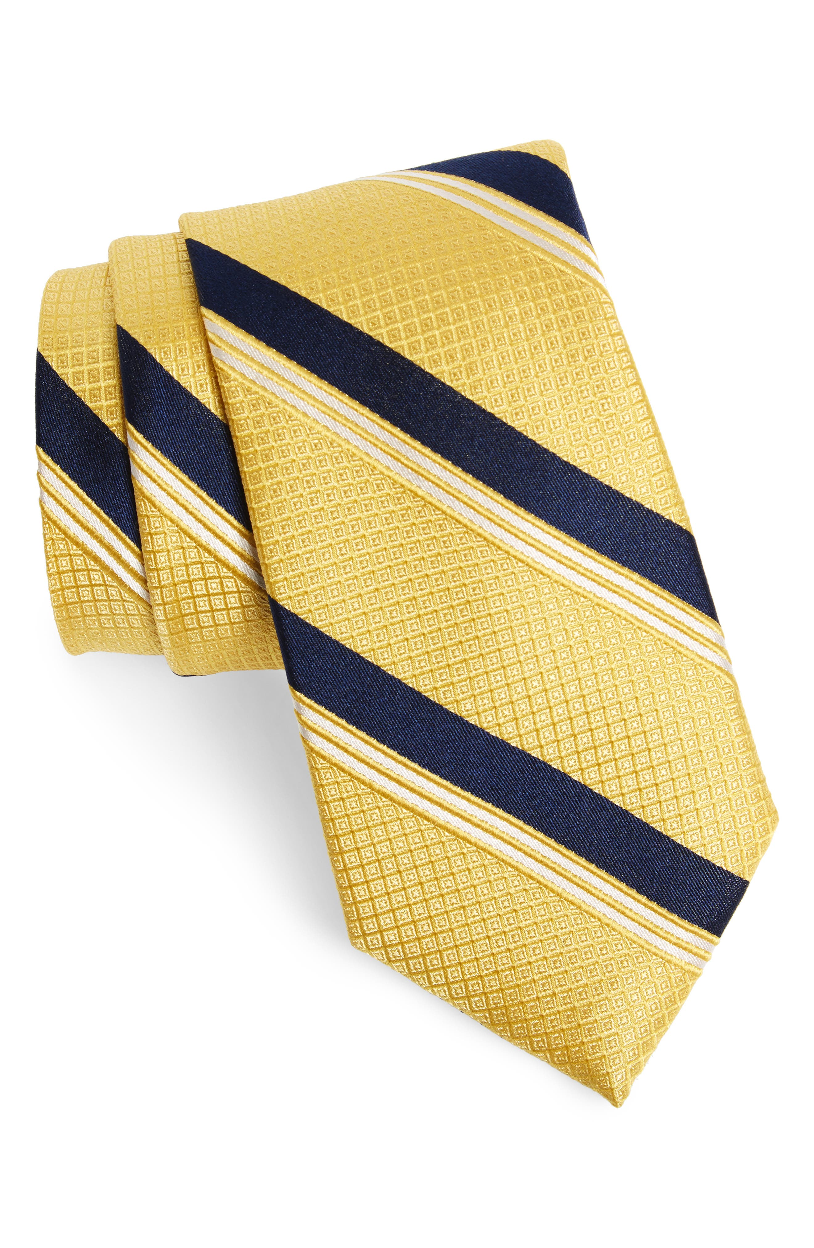 Stripe Silk Tie,                             Main thumbnail 4, color,