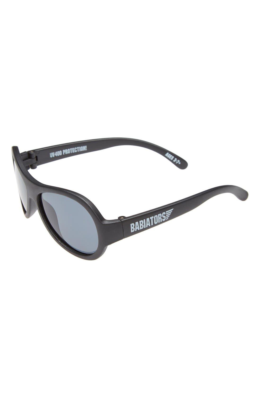 'Black Ops' Sunglasses,                             Main thumbnail 1, color,                             BLACK OPS