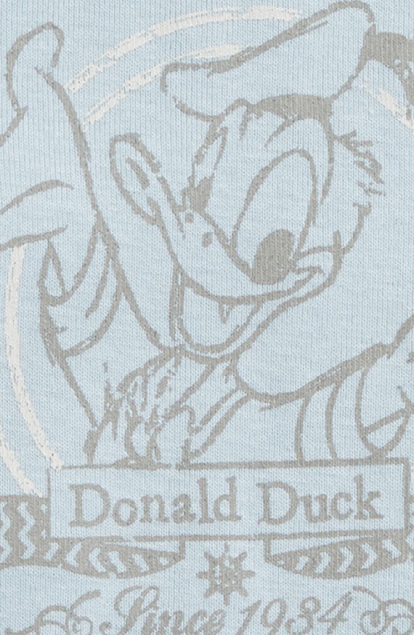 Disney Donald Duck Organic Cotton Bodysuit,                             Alternate thumbnail 2, color,                             400