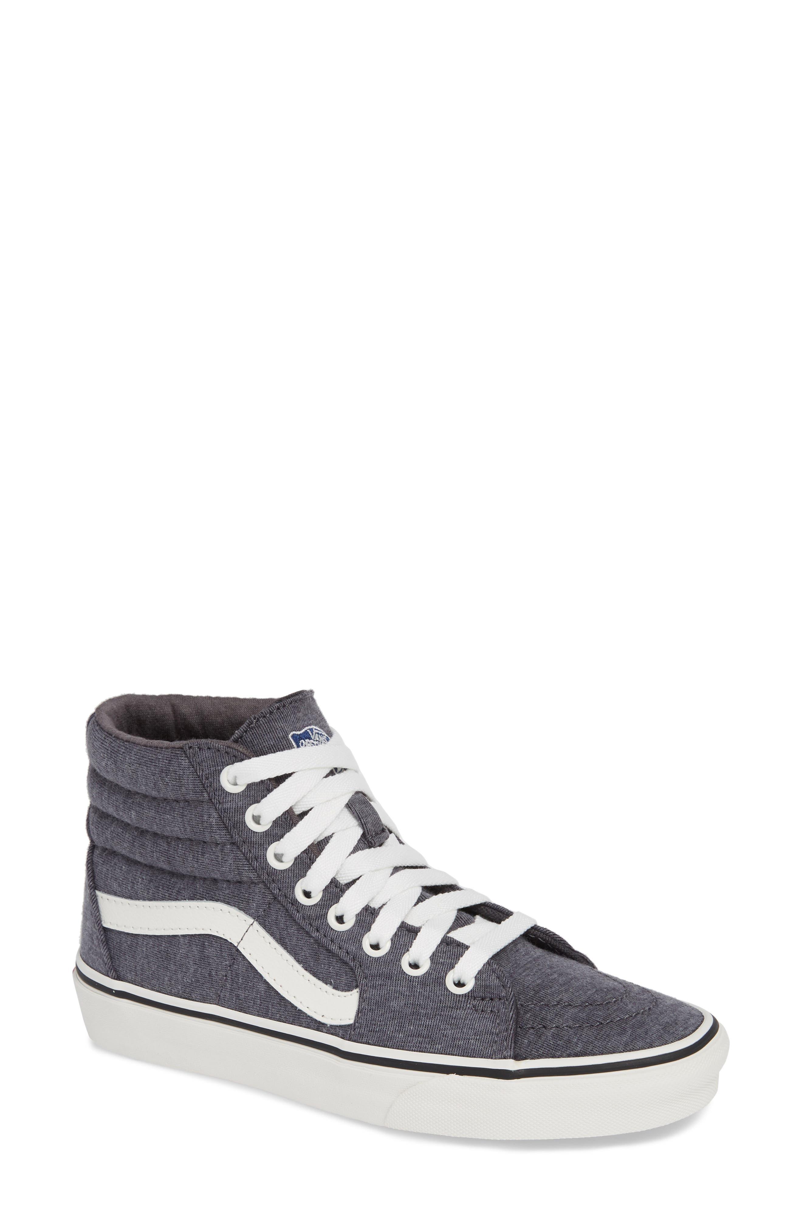 'Sk8-Hi' Sneaker,                             Main thumbnail 1, color,                             GREY/ SNOW WHITE