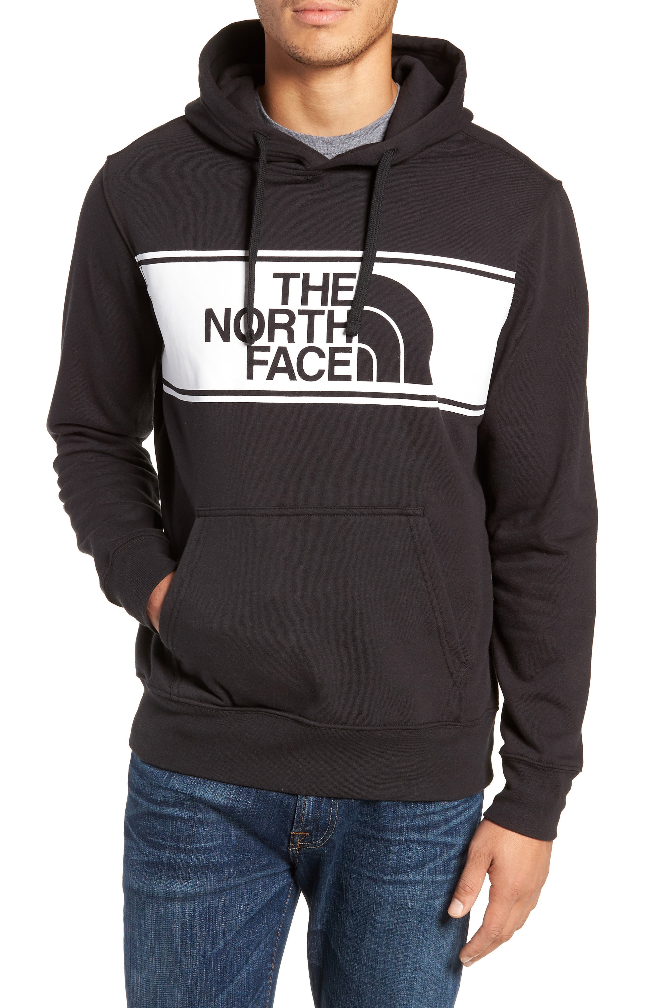 Edge to Edge Logo Pullover Hoodie,                         Main,                         color, 001