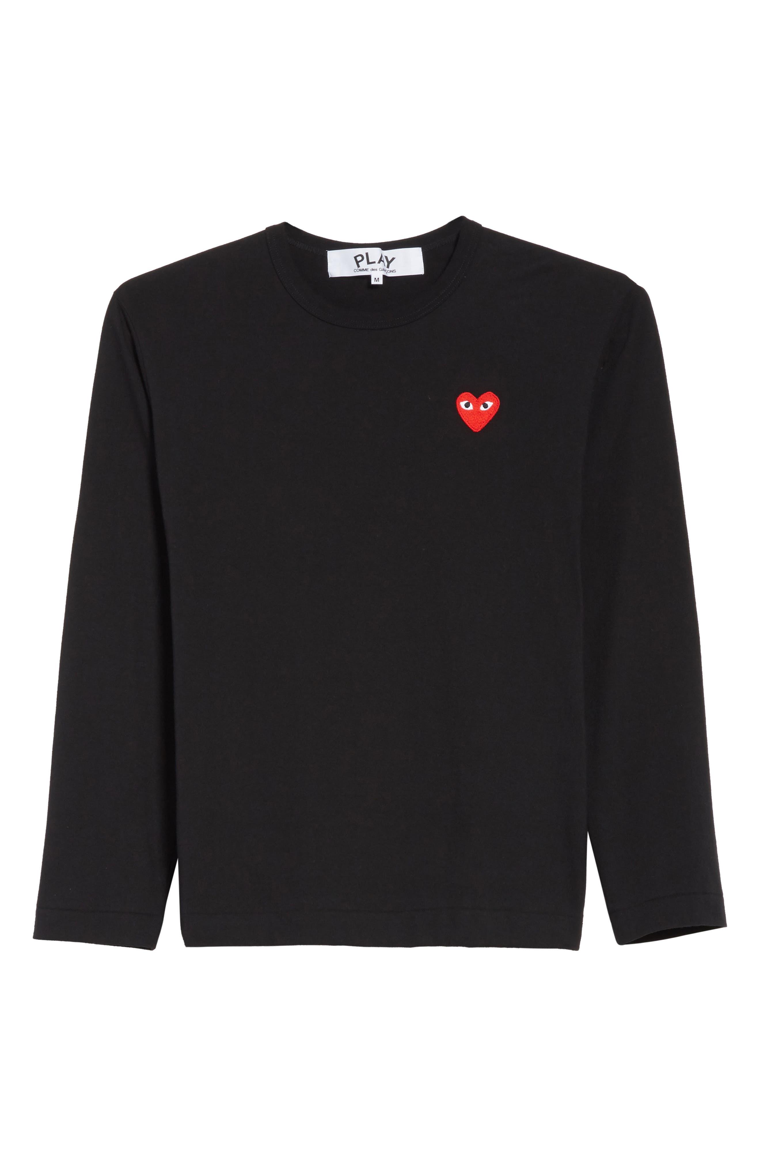 Long Sleeve T-Shirt,                             Alternate thumbnail 6, color,                             BLACK