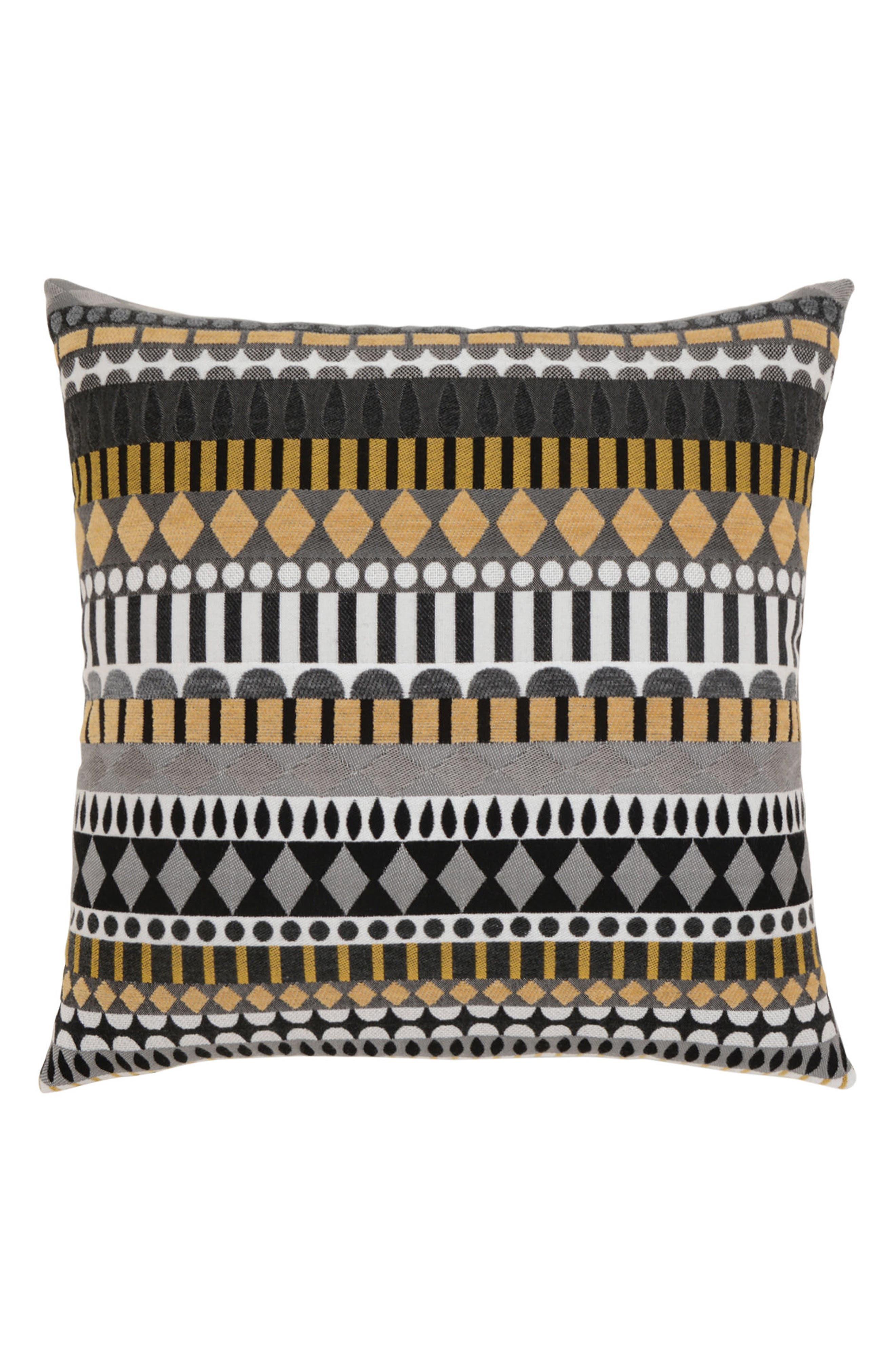 Golden Deco Indoor/Outdoor Accent Pillow,                             Main thumbnail 1, color,                             BLACK MULTI
