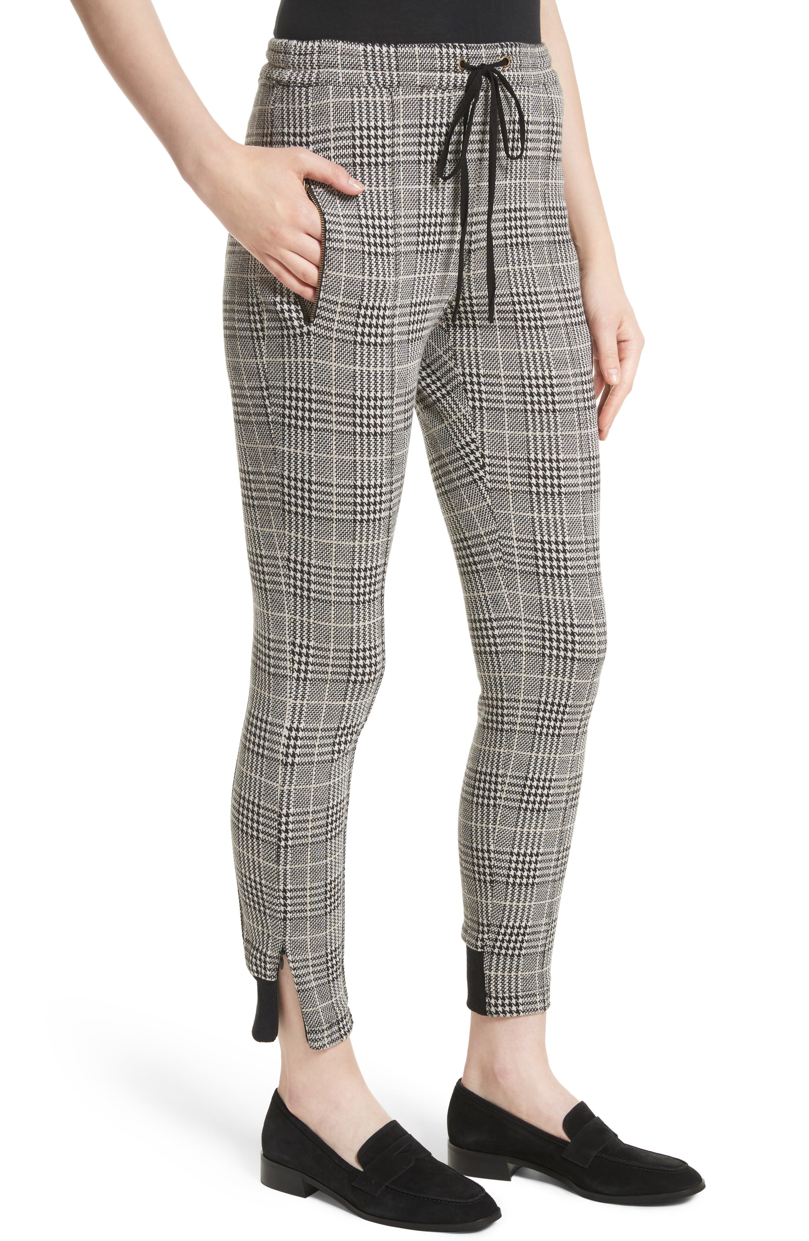 Houndstooth Ankle Skinny Pants,                             Alternate thumbnail 4, color,