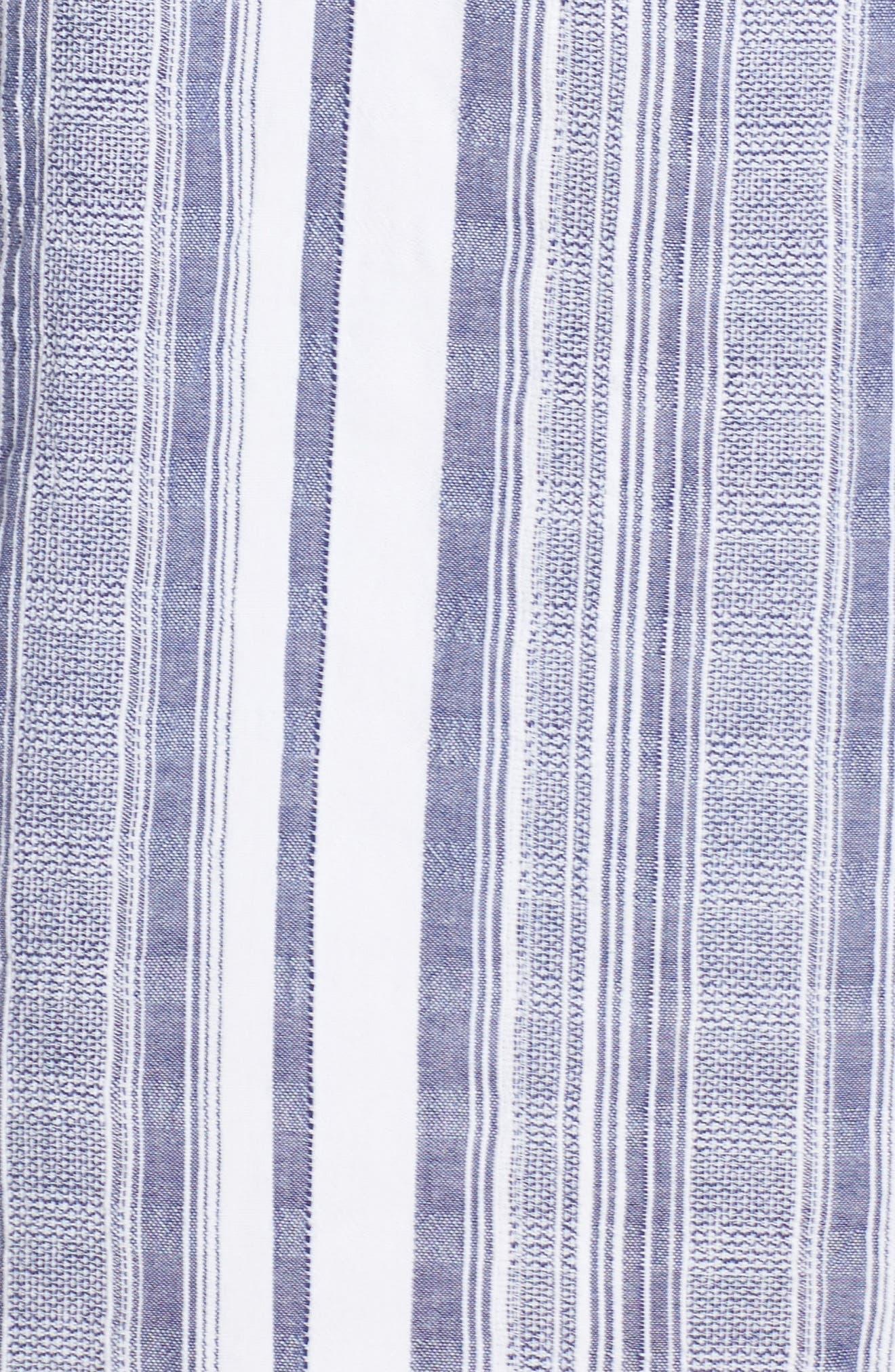 Yarn Dye Stripe Cover-Up Tunic,                             Alternate thumbnail 5, color,                             100
