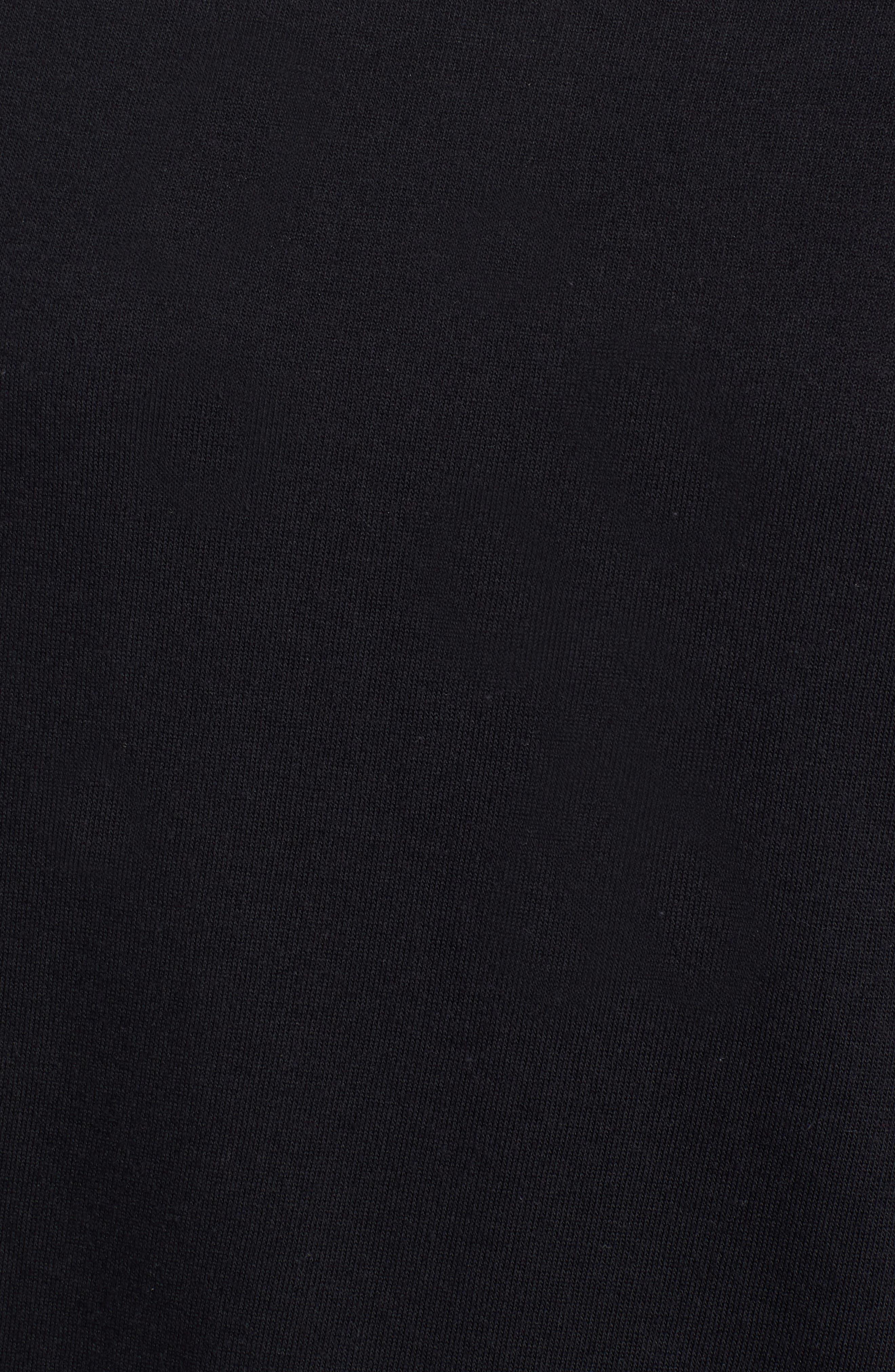 Slouch Sweatshirt,                             Alternate thumbnail 5, color,                             BLACK