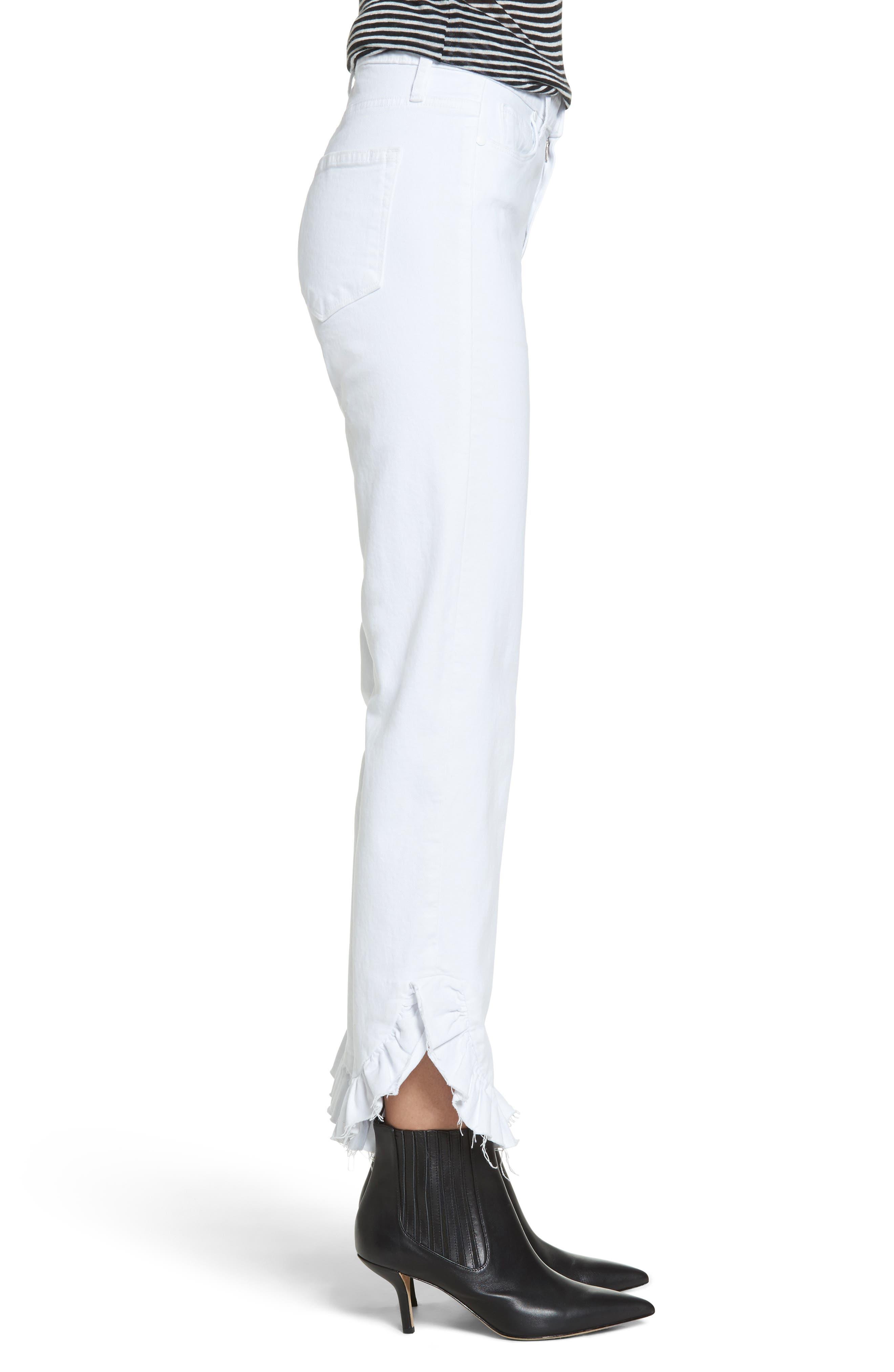 Jacqueline Crop Straight Leg Jeans,                             Alternate thumbnail 3, color,                             100