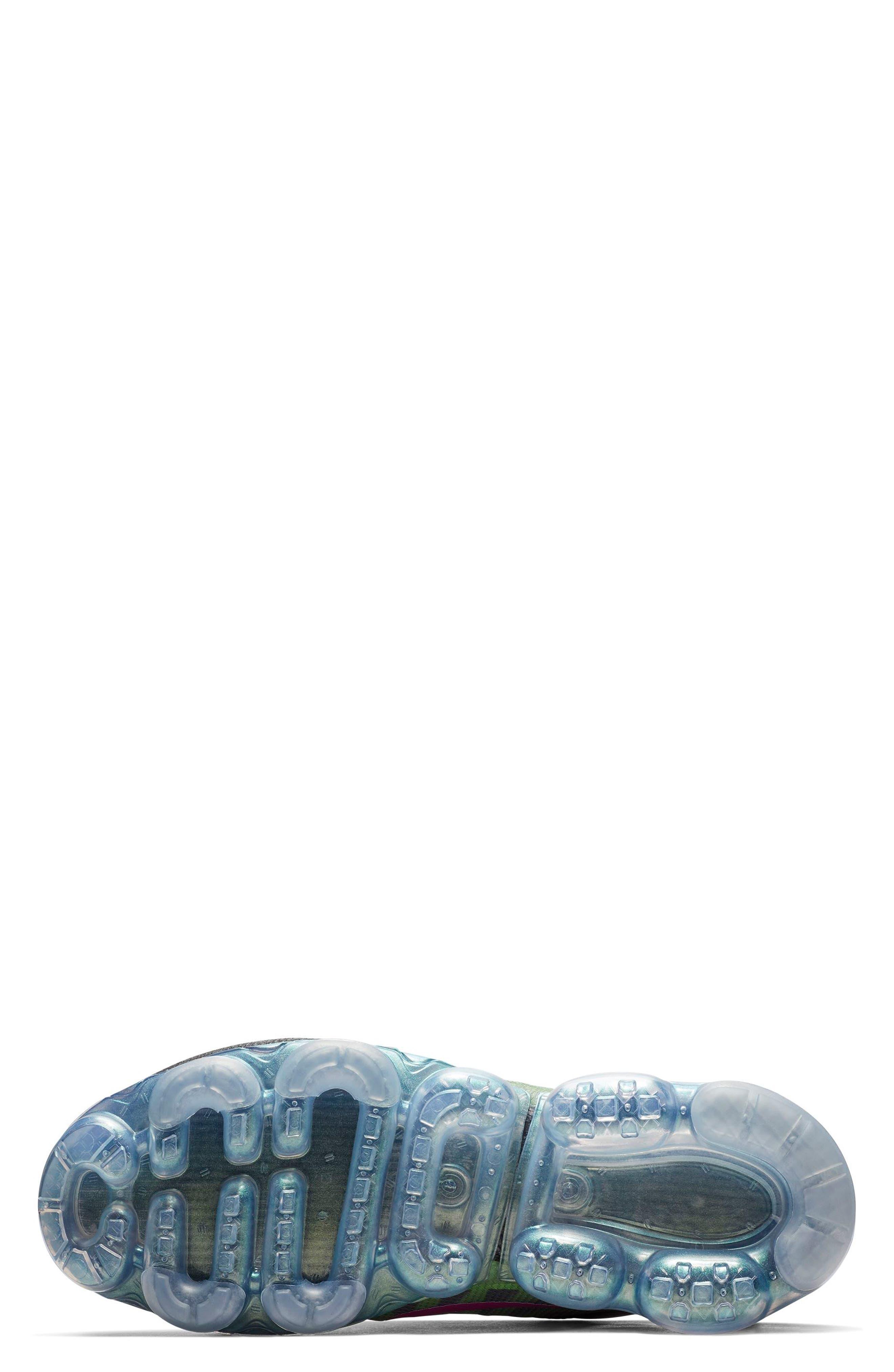 Air VaporMax 2019 Running Shoe,                             Alternate thumbnail 5, color,                             BLACK/ FUCHSIA/ BLUE