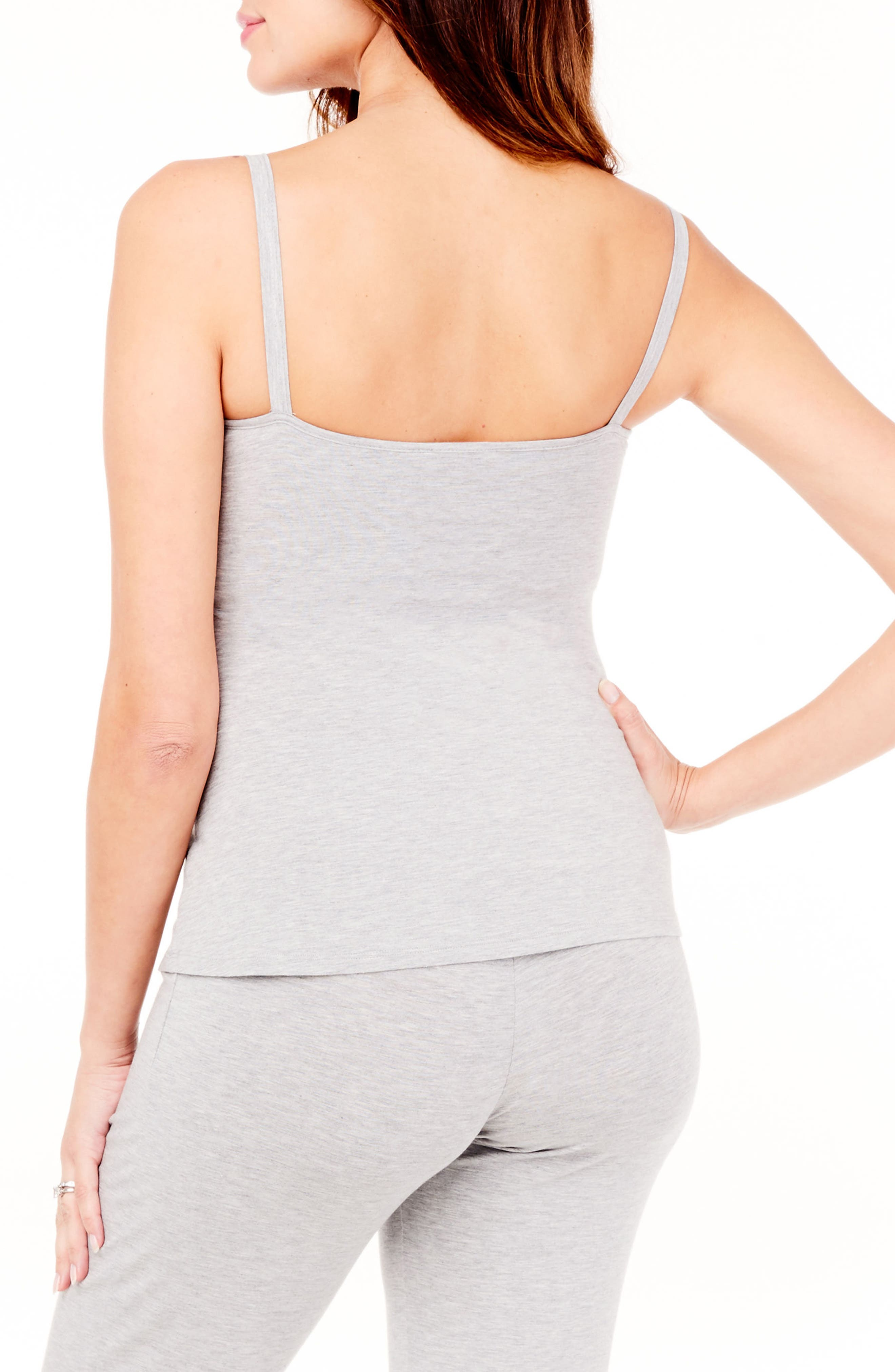 Maternity/Nursing Camisole,                             Alternate thumbnail 2, color,                             LIGHT GREY HEATHER