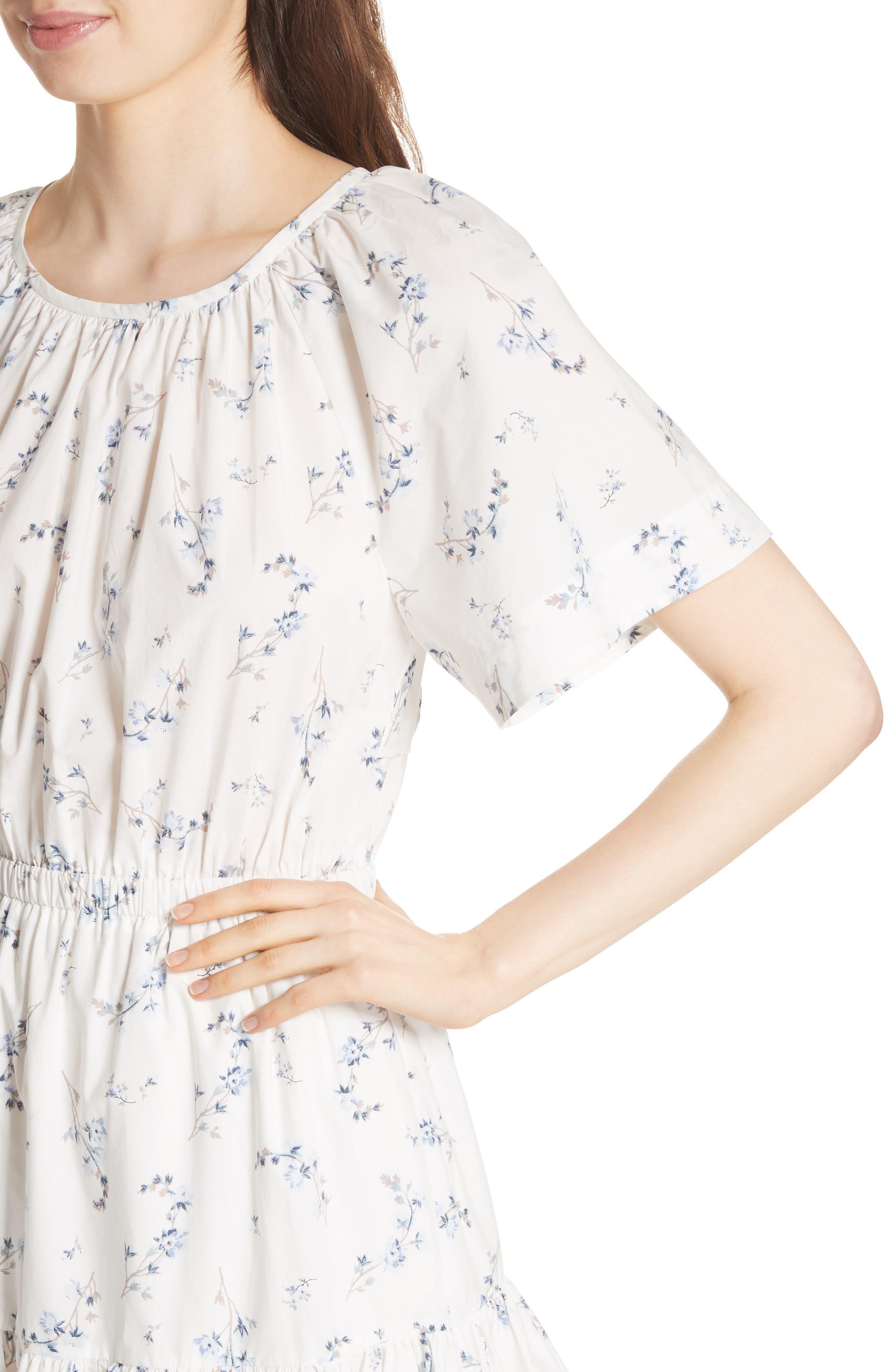 Francine Back Cutout Mini Dress,                             Alternate thumbnail 4, color,                             103