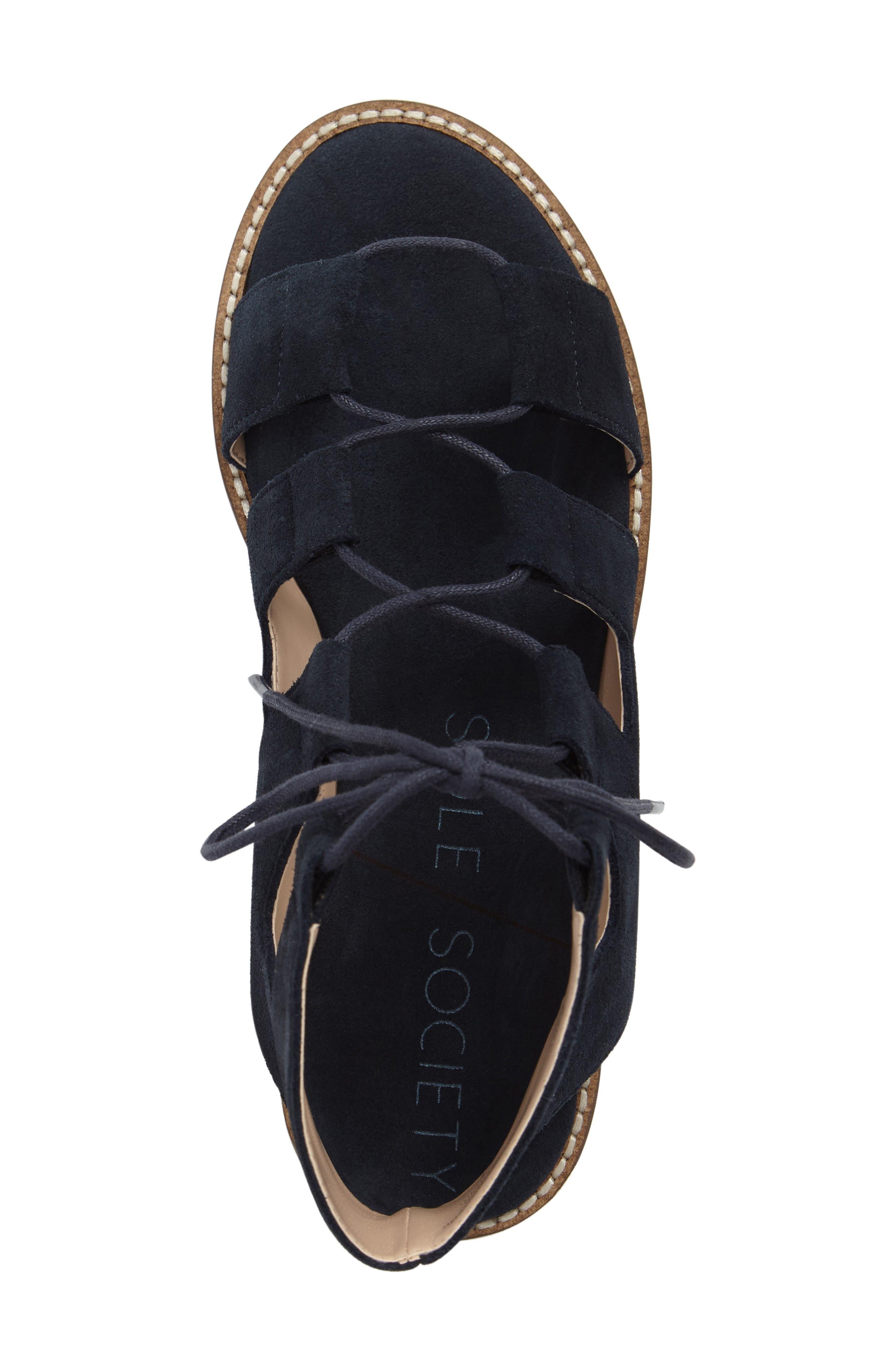 'Cady' Lace-Up Flat Sandal,                             Alternate thumbnail 18, color,