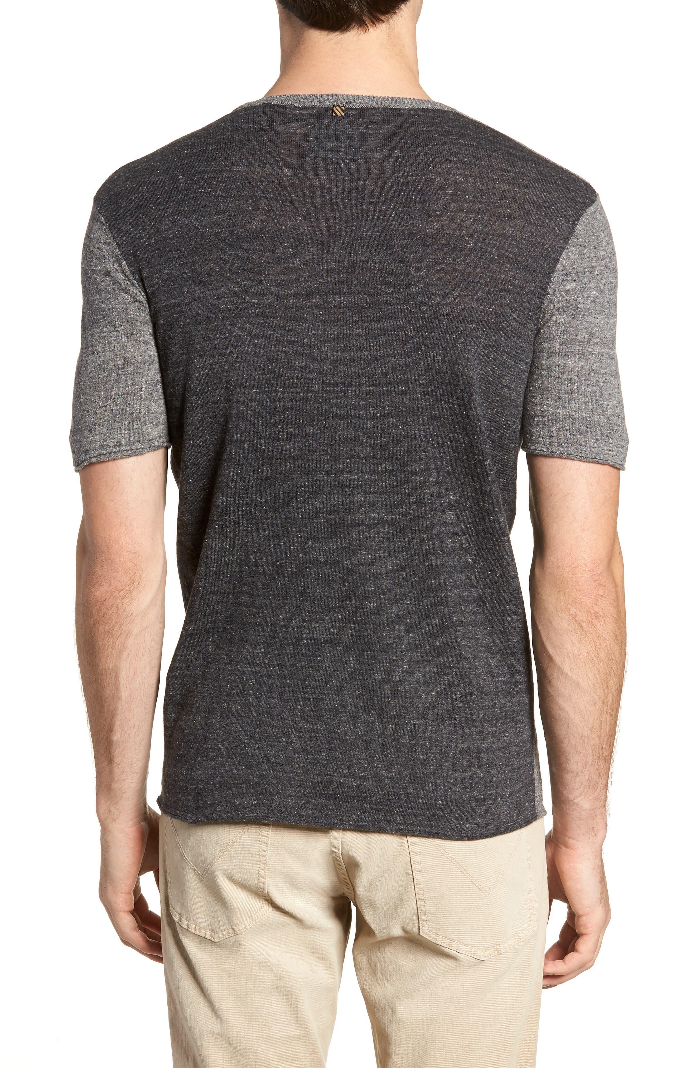 Two-Tone Crewneck T-Shirt,                             Alternate thumbnail 2, color,                             060