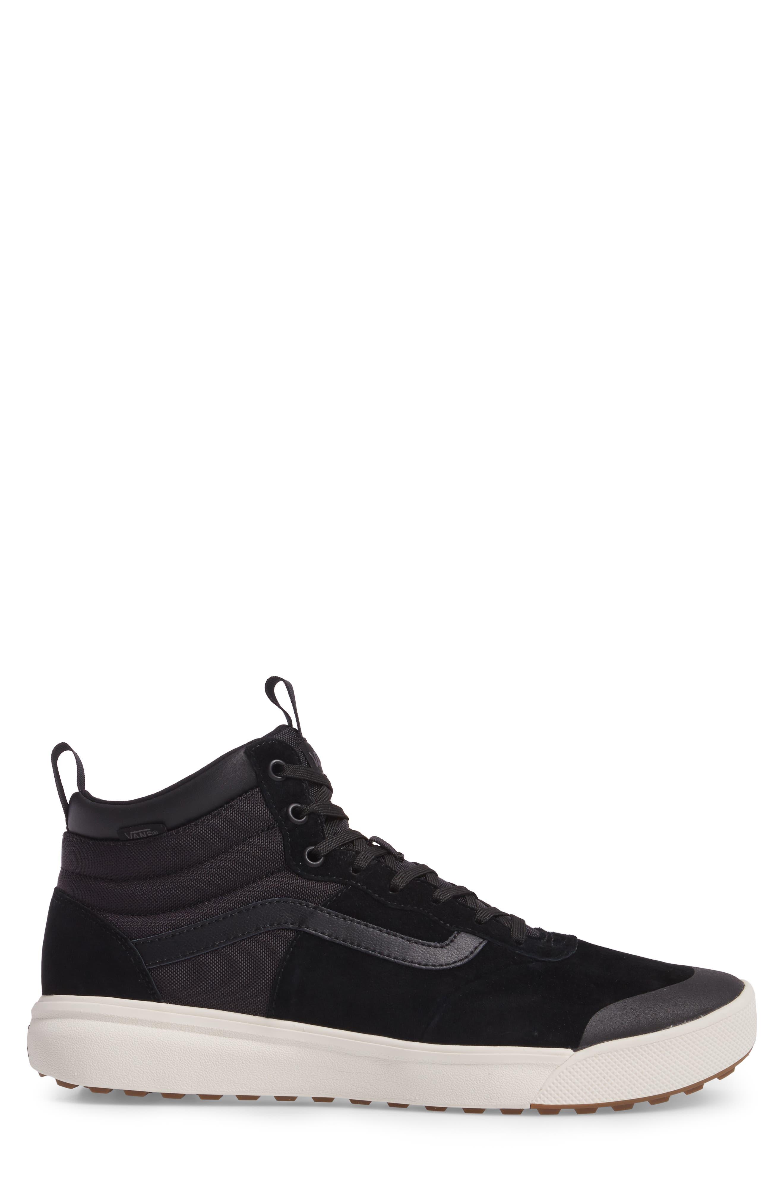 Ultrarange Hi Sneaker,                             Alternate thumbnail 3, color,                             BLACK SUEDE
