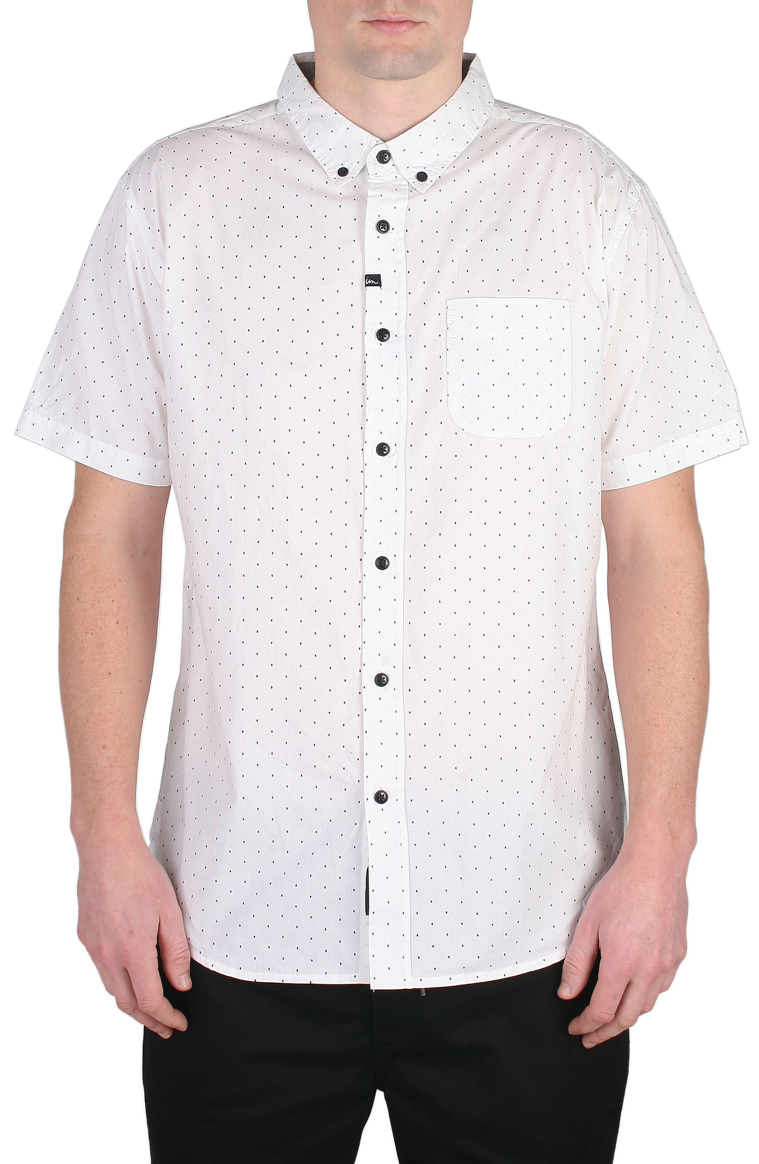 Winston Dot Print Woven Shirt,                             Main thumbnail 1, color,                             100