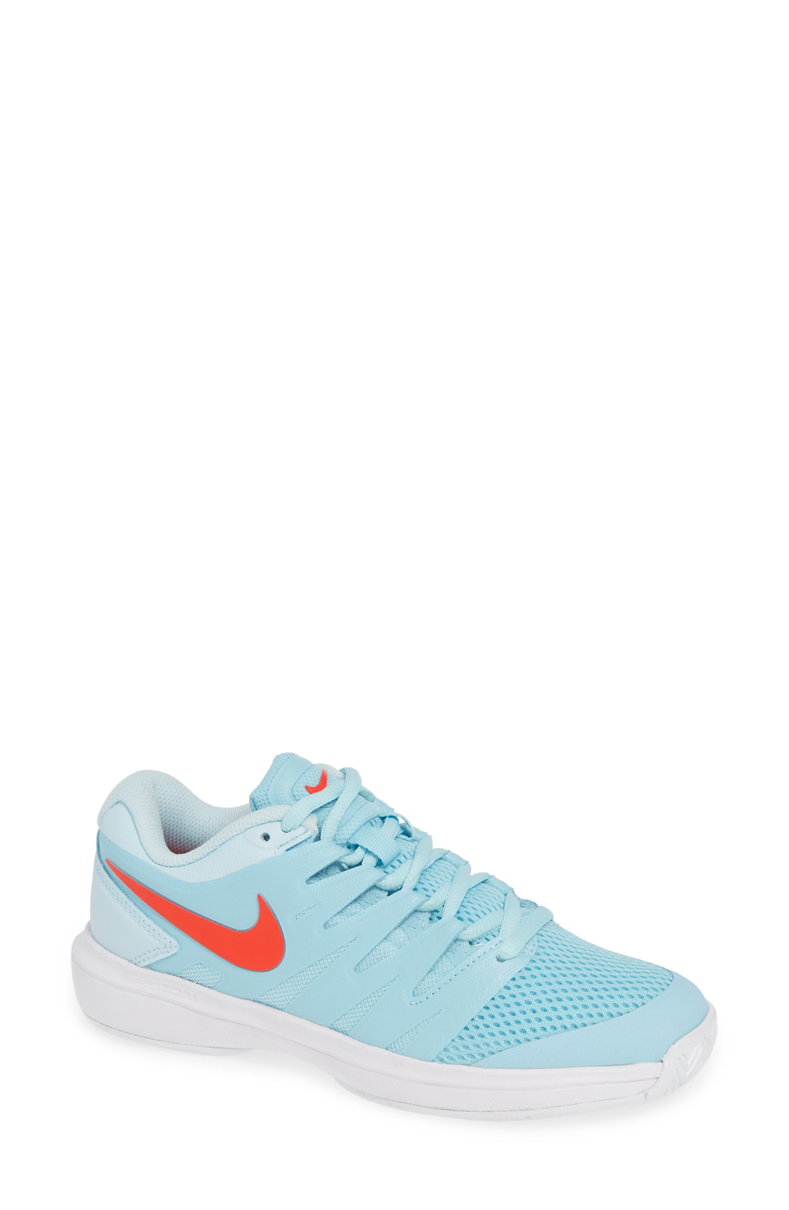 Air Zoom Prestige Tennis Shoe,                             Main thumbnail 1, color,                             BLUE/ BRIGHT CRIMSON-TOPAZ