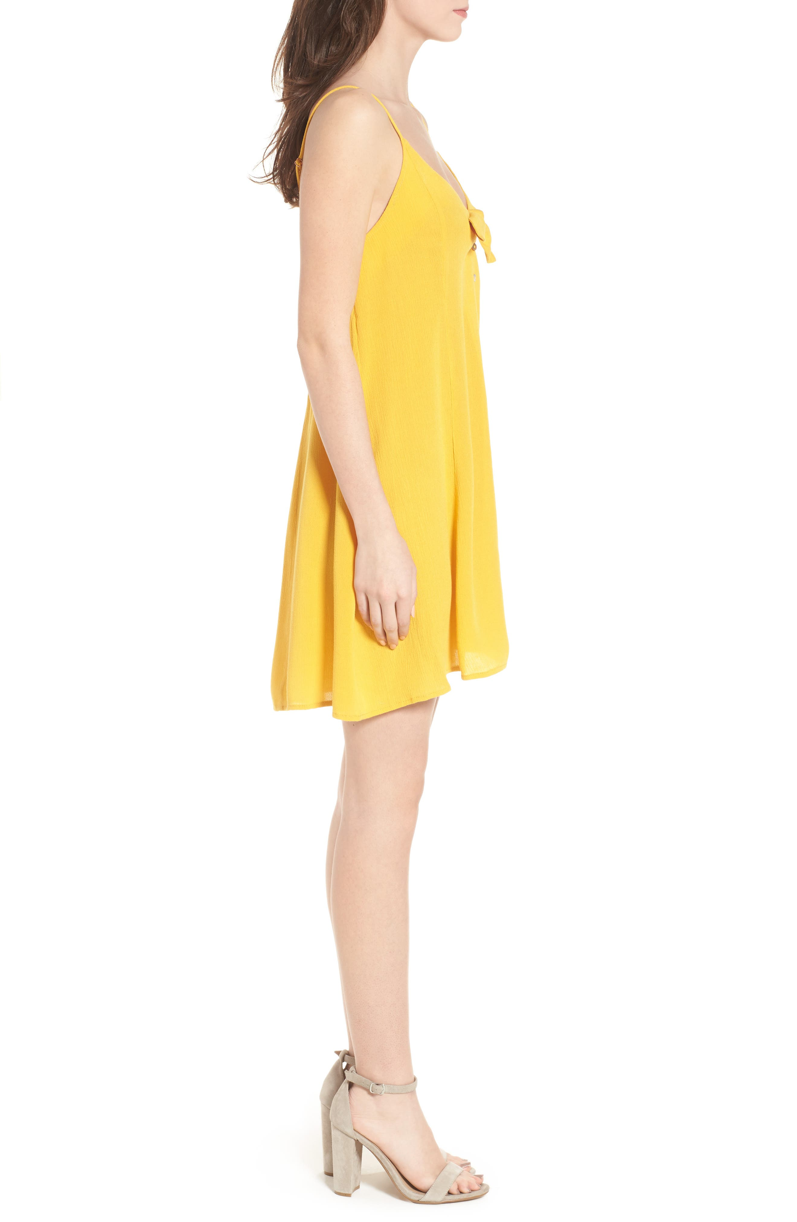 Shine For You Knot Front Dress,                             Alternate thumbnail 3, color,                             701