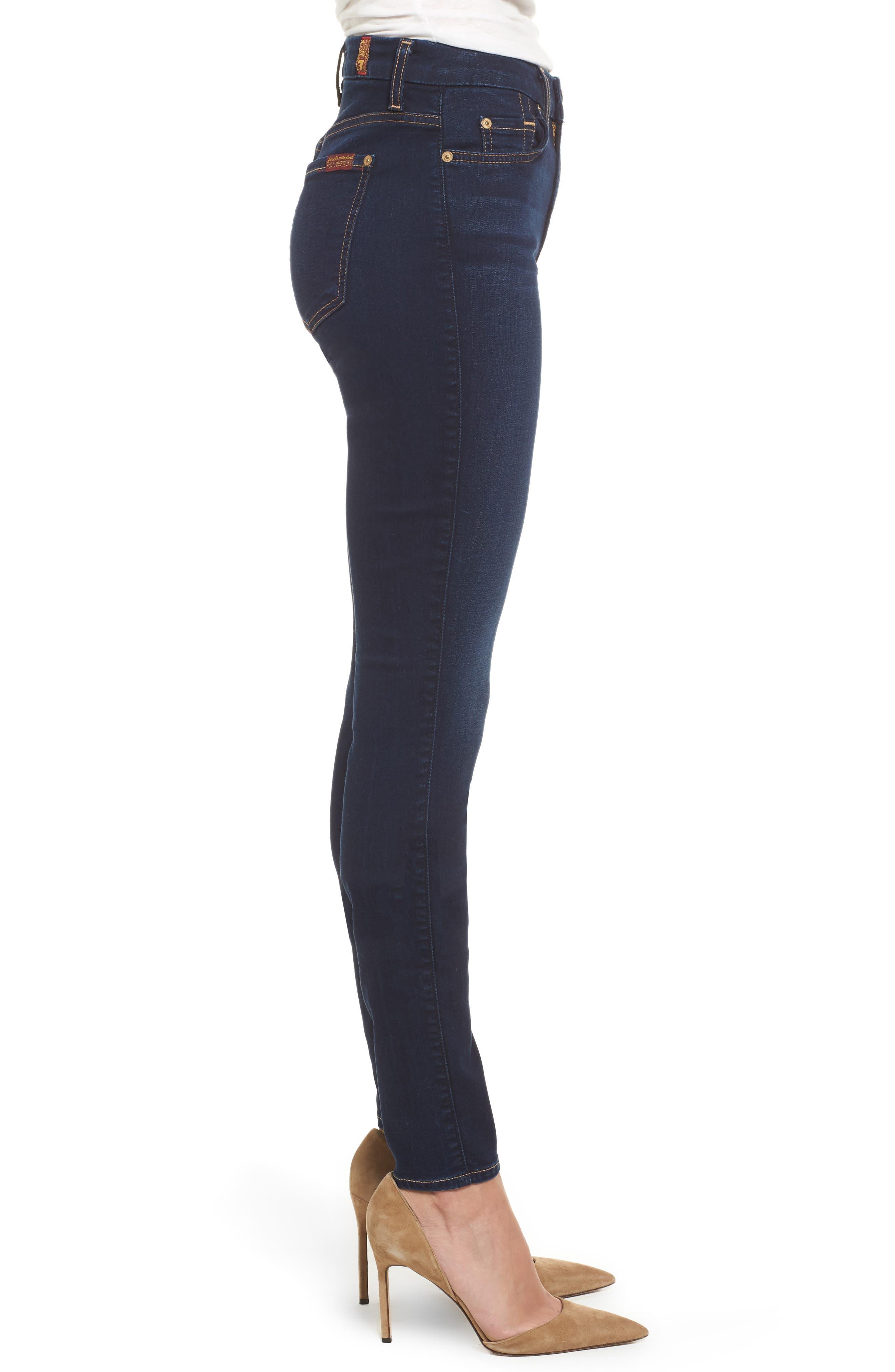 b(air) High Waist Skinny Jeans,                             Alternate thumbnail 3, color,                             400