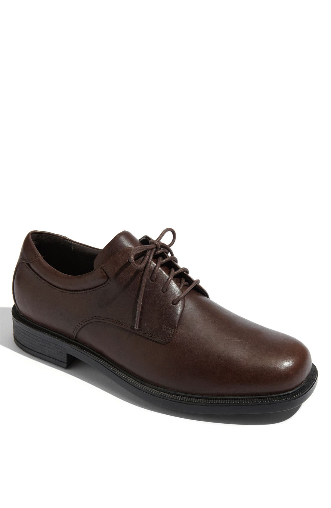 'Margin' Oxford,                         Main,                         color, CHOCOLATE LEATHER