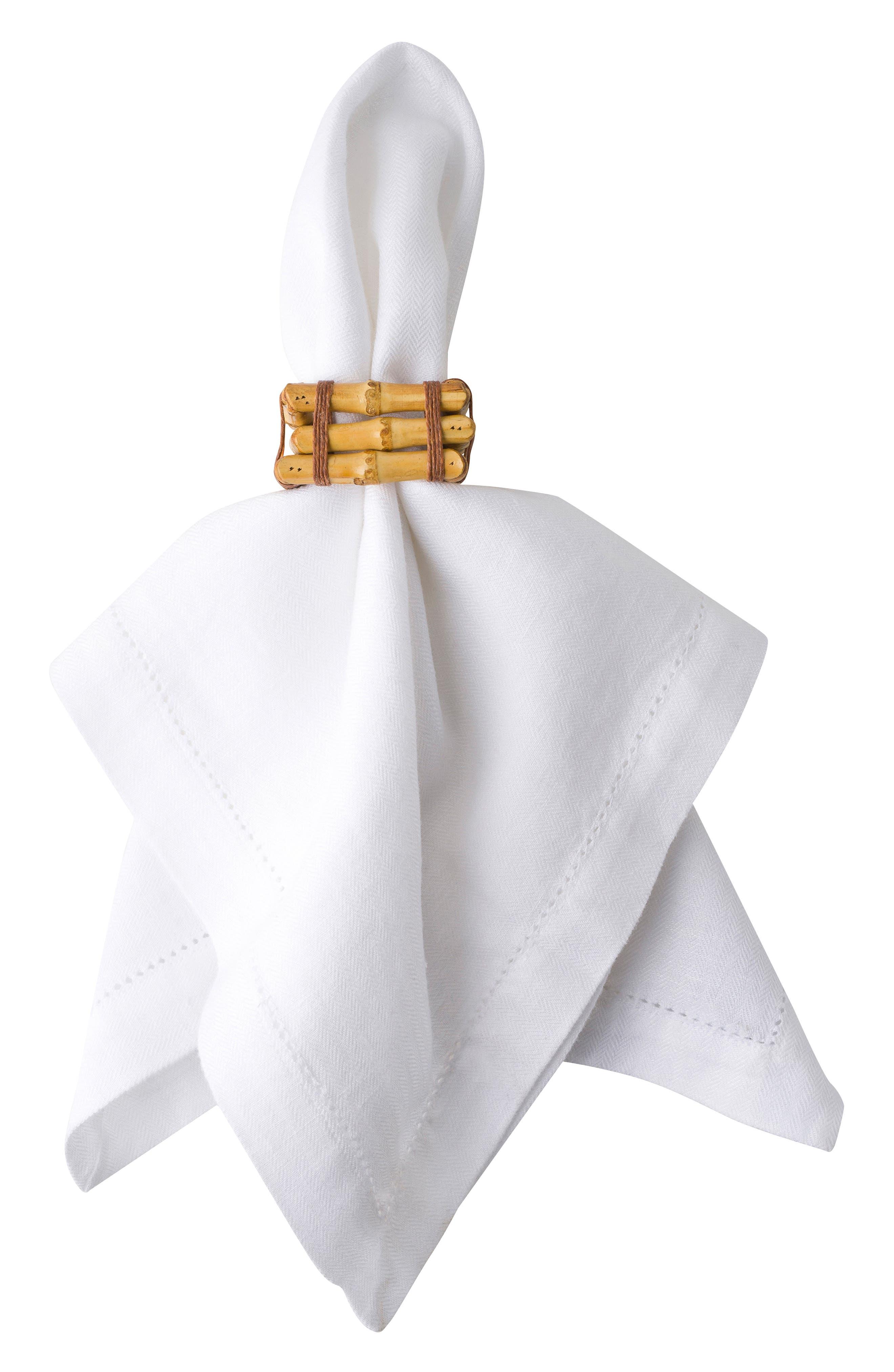 Bamboo Napkin Ring,                         Main,                         color, NATURAL