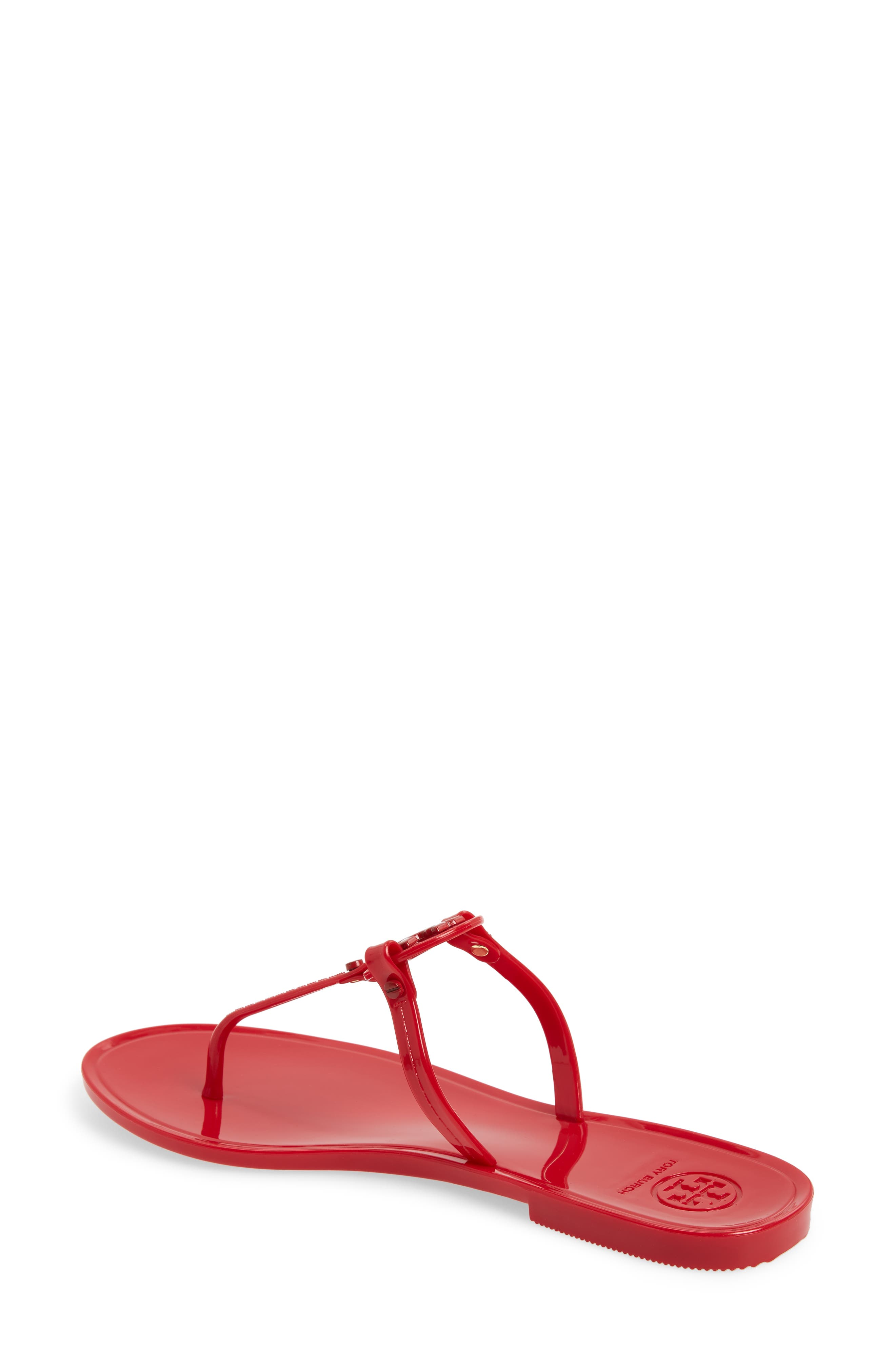 TORY BURCH,                             'Mini Miller' Flat Sandal,                             Alternate thumbnail 2, color,                             RED