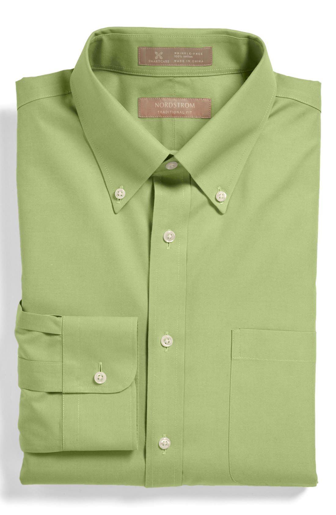 Smartcare<sup>™</sup> Traditional Fit Pinpoint Dress Shirt,                             Main thumbnail 13, color,
