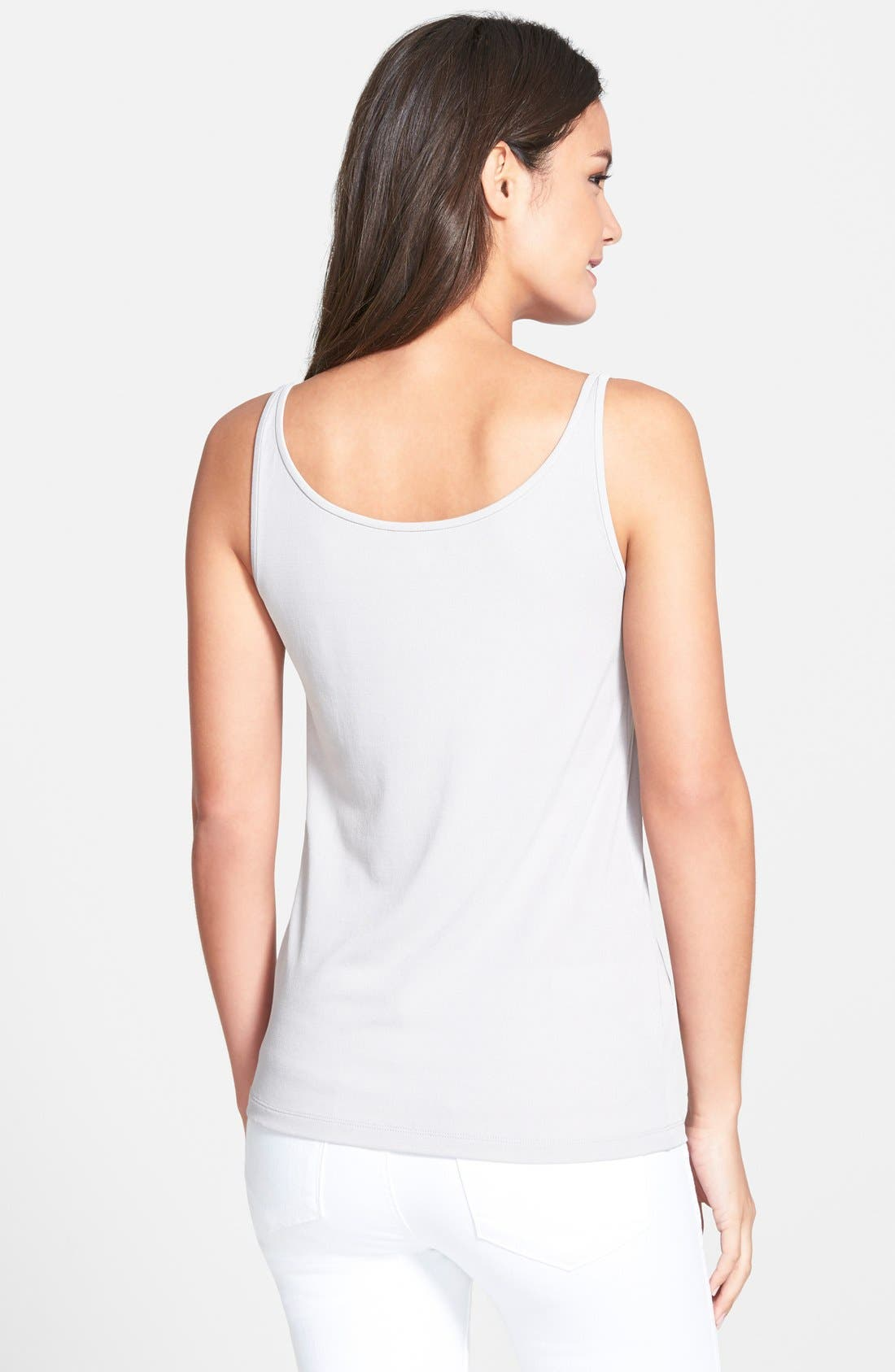 Long Scoop Neck Camisole,                             Alternate thumbnail 3, color,                             021