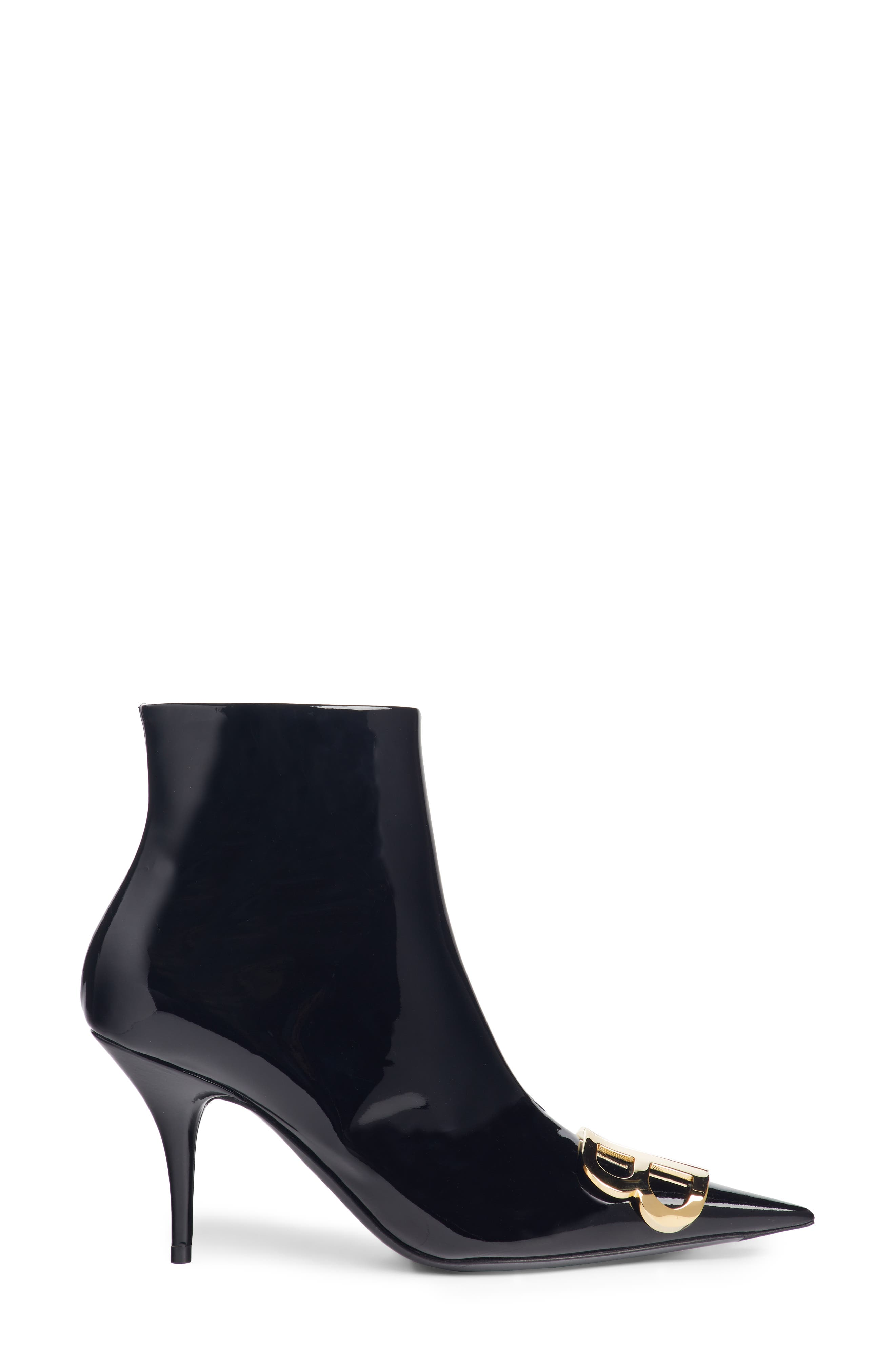 BB Pointy Toe Bootie,                             Alternate thumbnail 3, color,                             BLACK