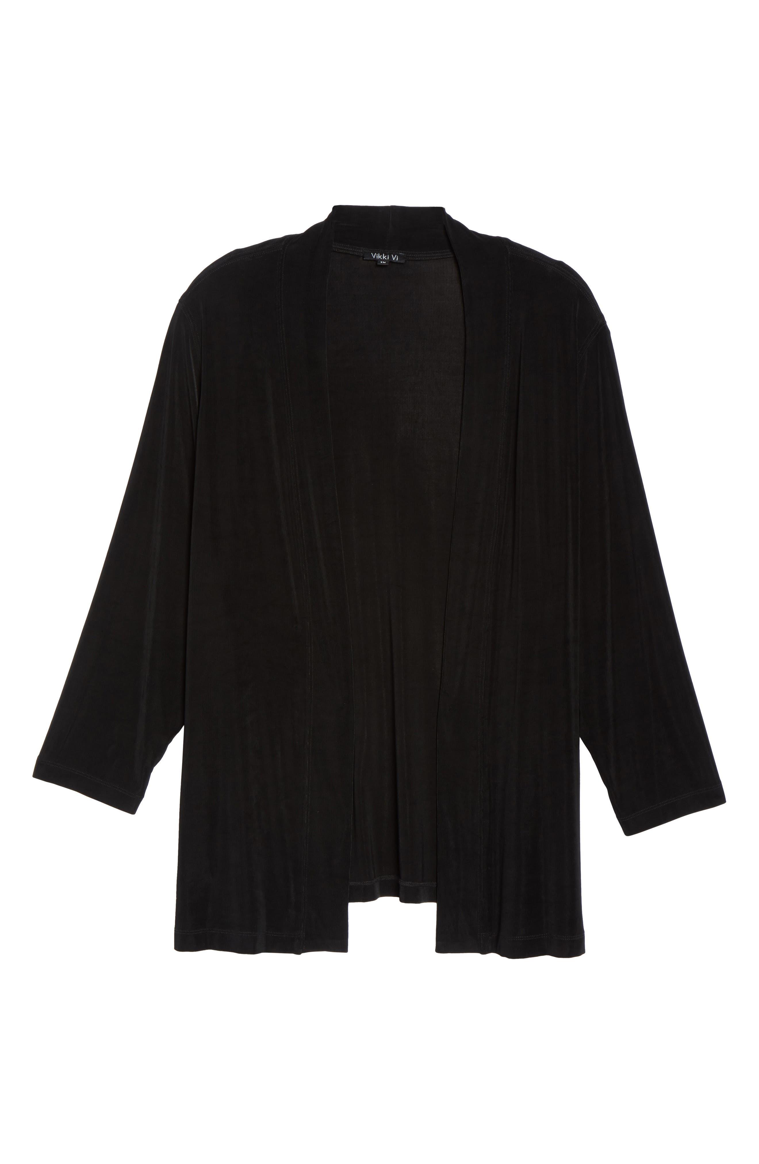 Kimono Cardigan,                             Alternate thumbnail 6, color,                             BLACK