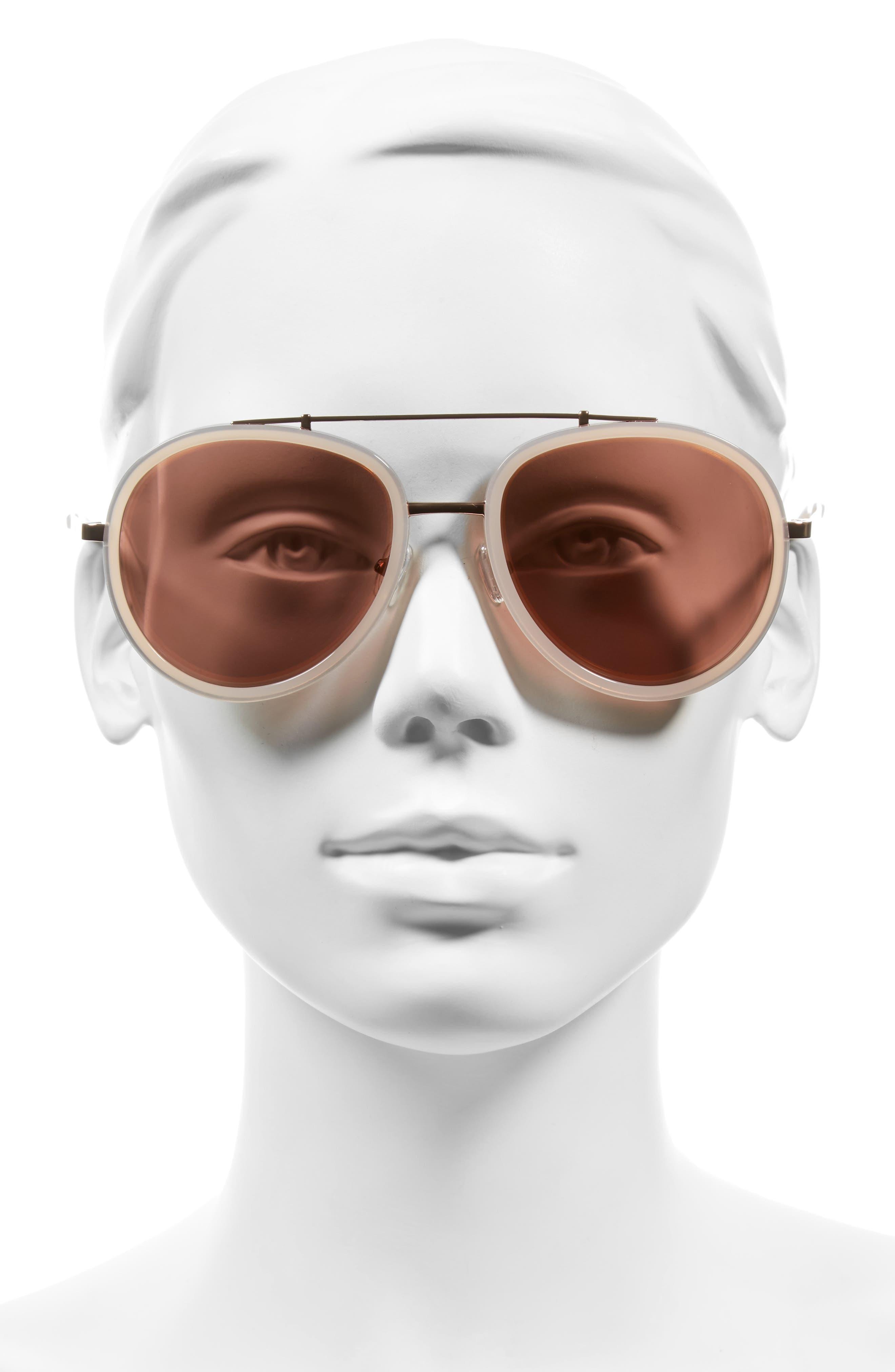 Jules 58mm Aviator Sunglasses,                             Alternate thumbnail 8, color,