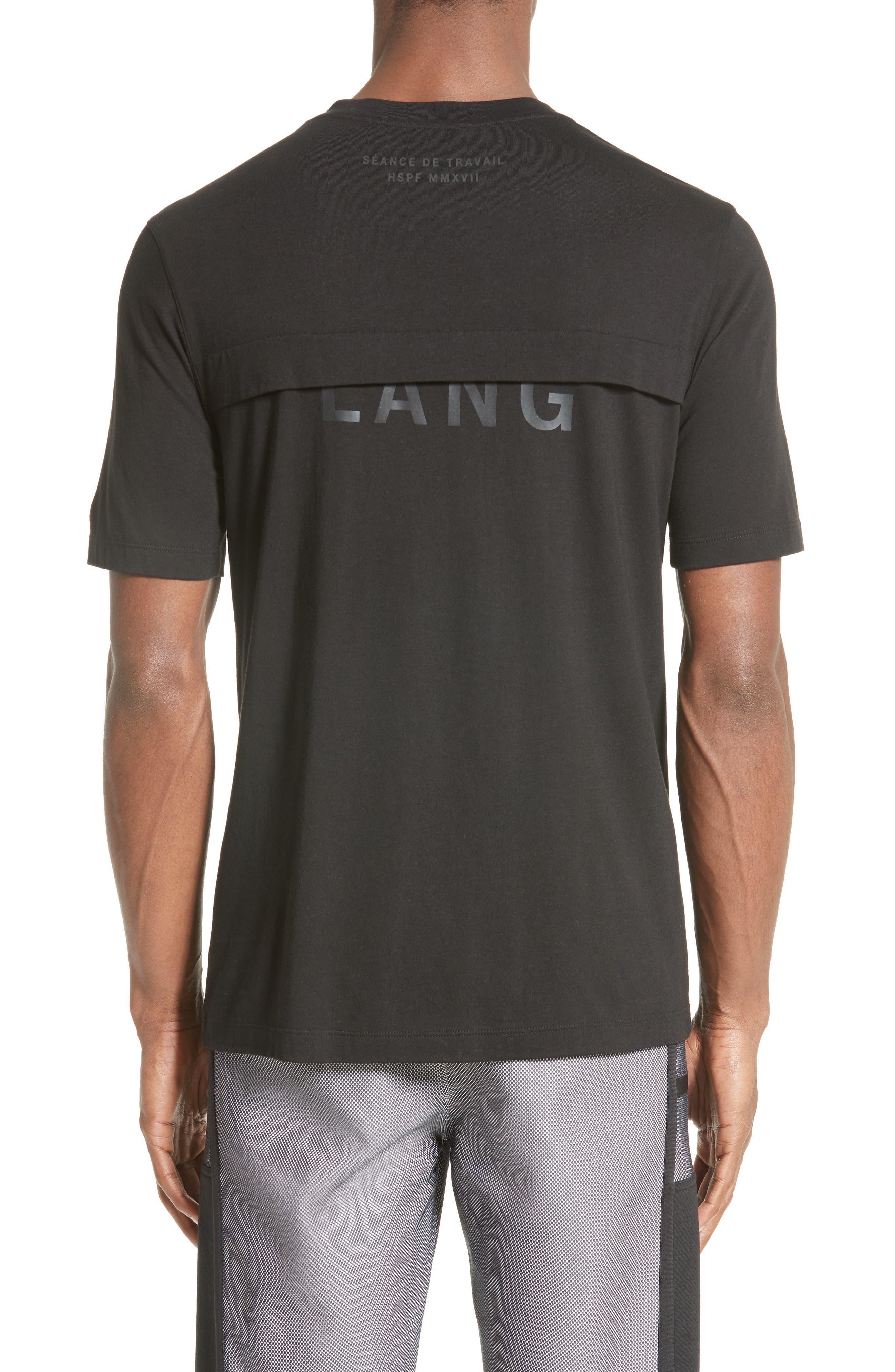 Half Logo Layered T-Shirt,                             Alternate thumbnail 2, color,                             001