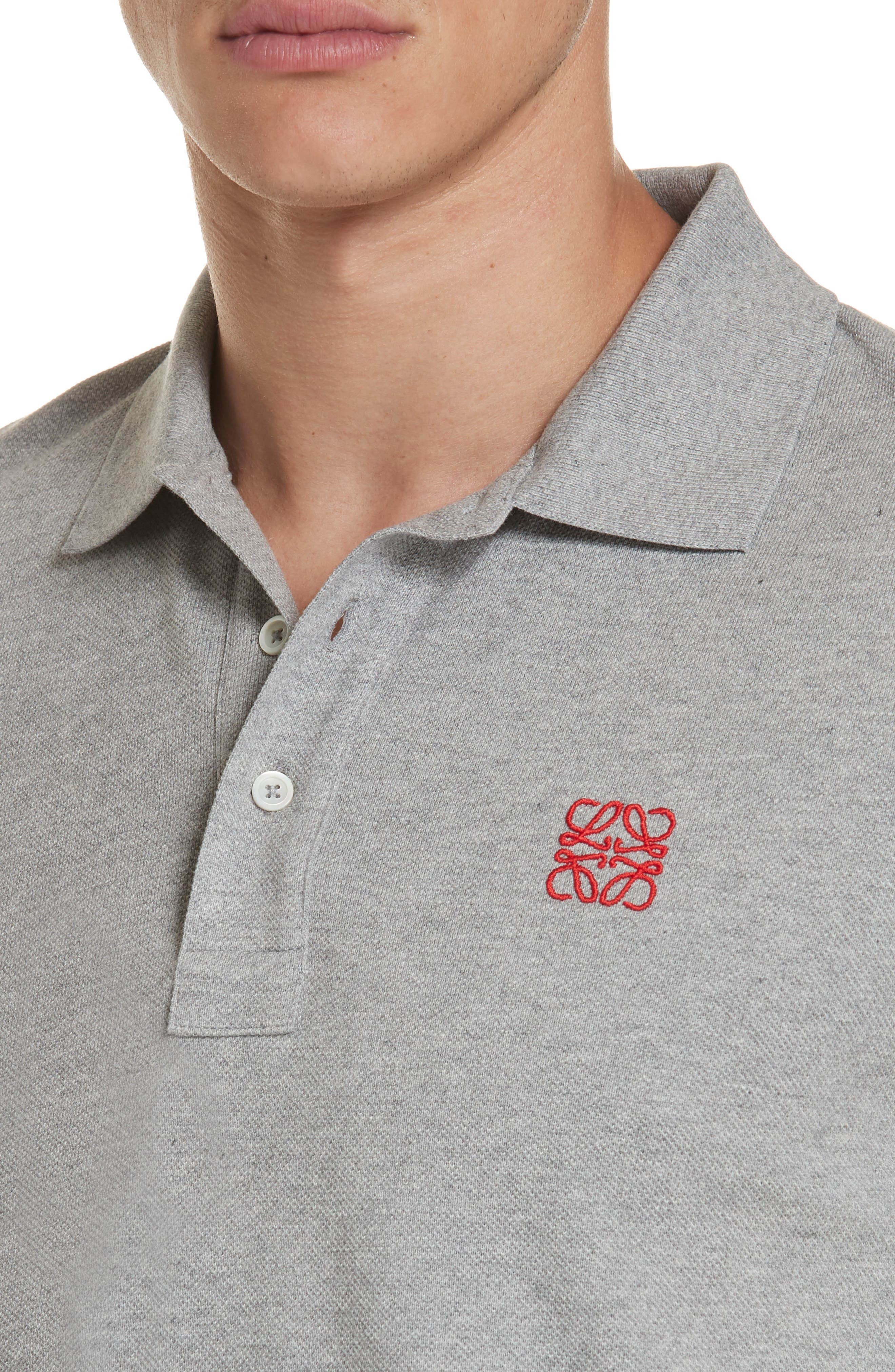 Anagram Polo,                             Alternate thumbnail 4, color,                             TRUE GREY