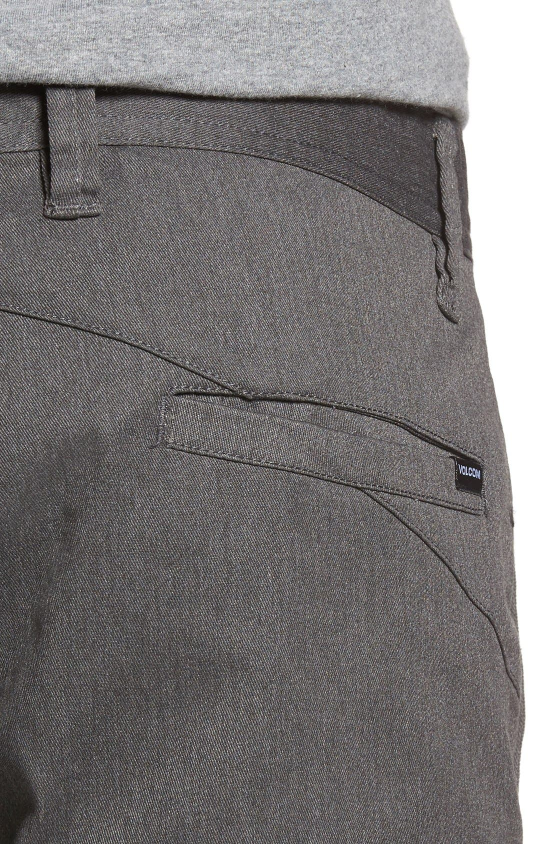 'Modern' Stretch Chino Shorts,                             Alternate thumbnail 4, color,                             030