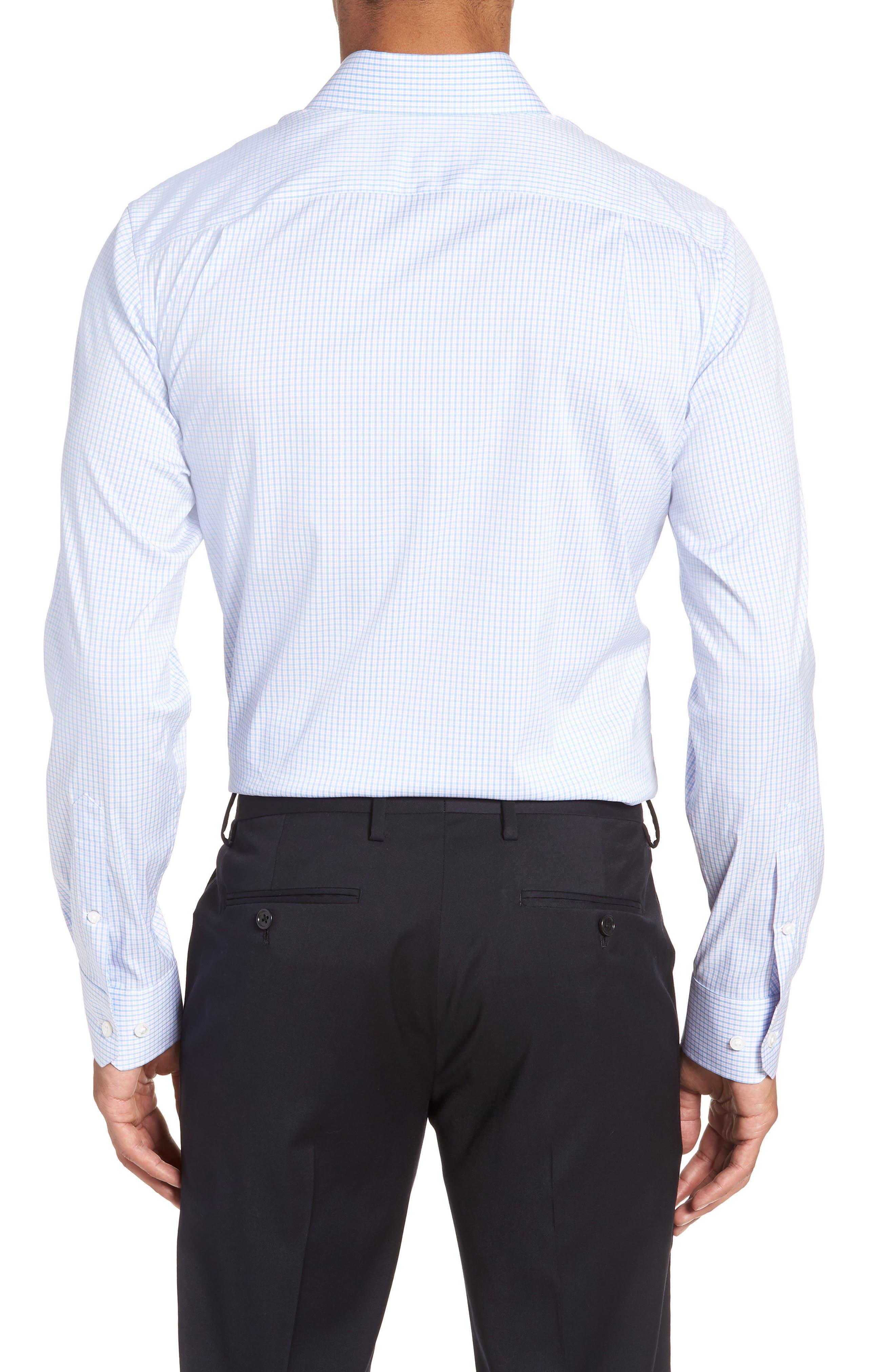 Soundview Slim Fit Stretch Check Dress Shirt,                             Alternate thumbnail 3, color,                             400