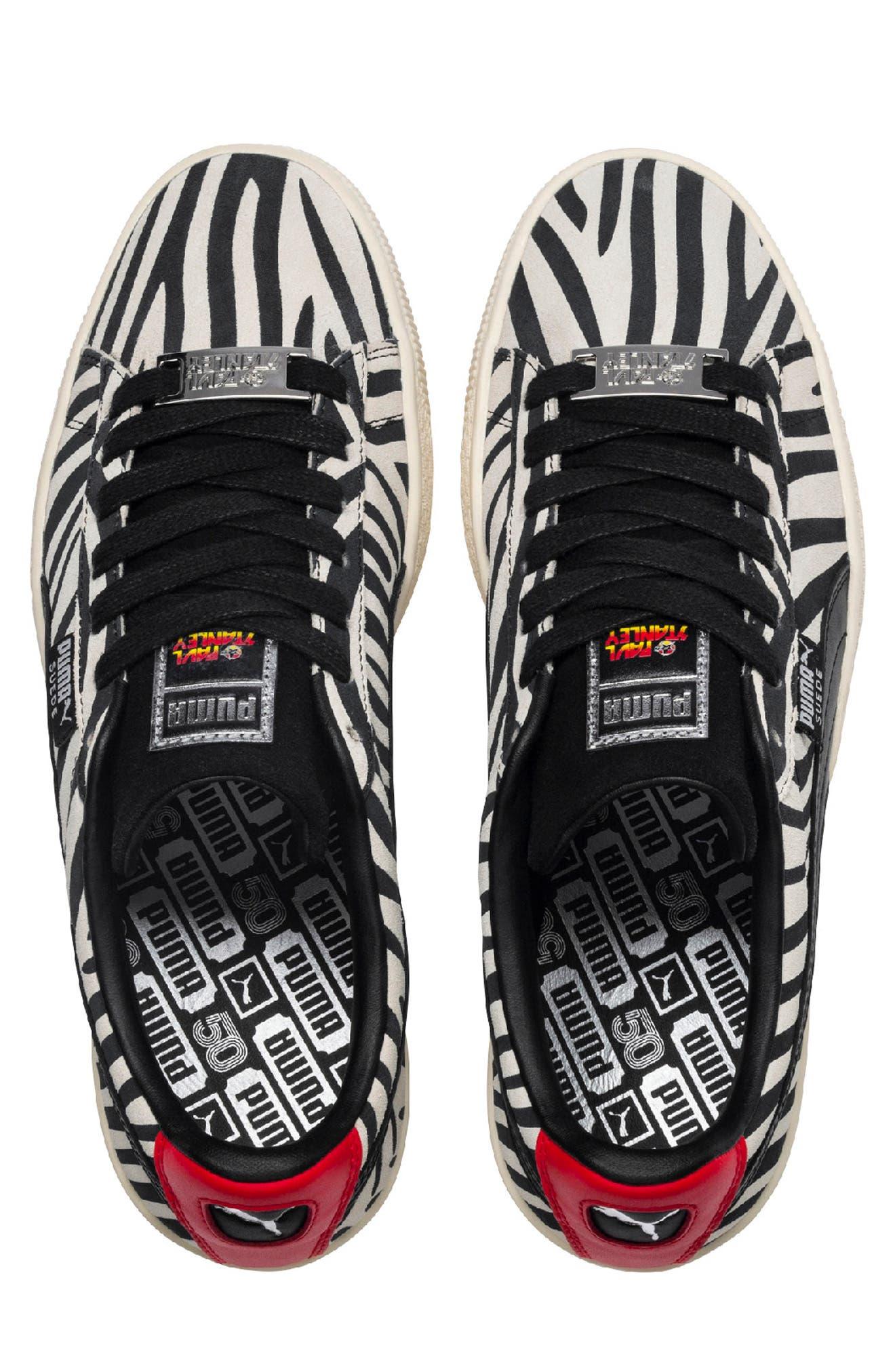x Paul Stanley Suede Classic Sneaker,                             Alternate thumbnail 3, color,                             100