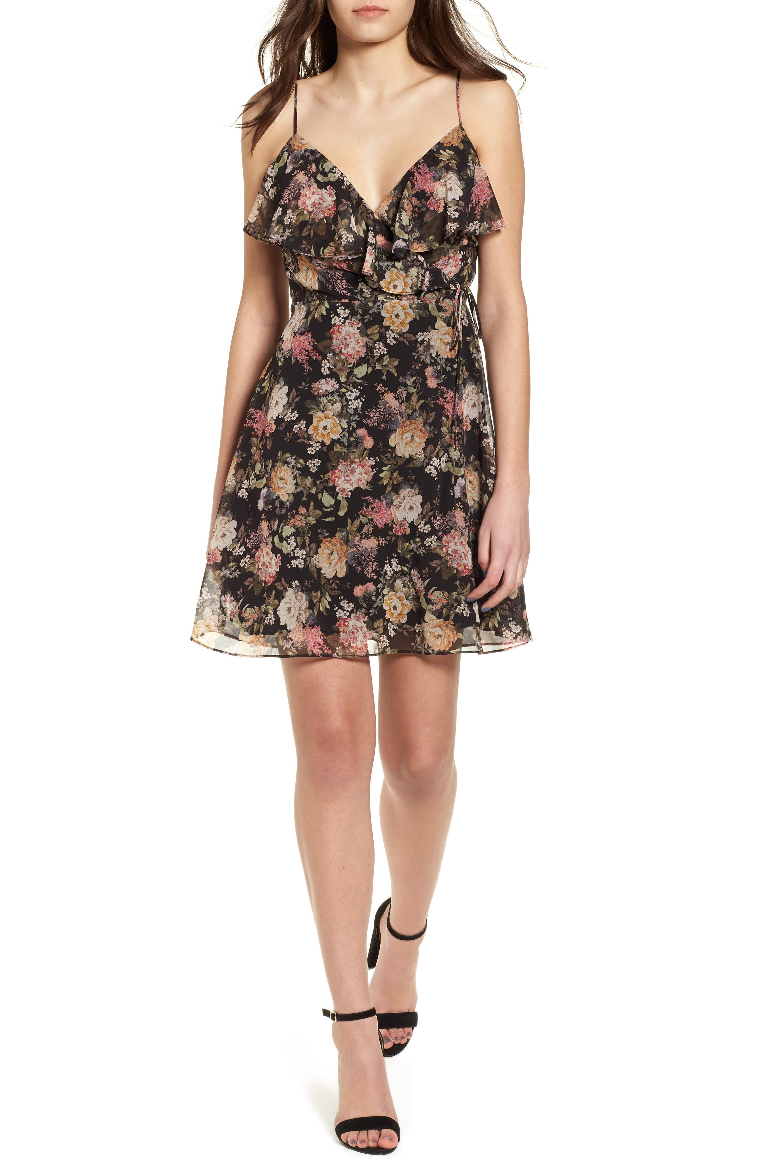Object of Desire Ruffle Dress,                         Main,                         color, 001