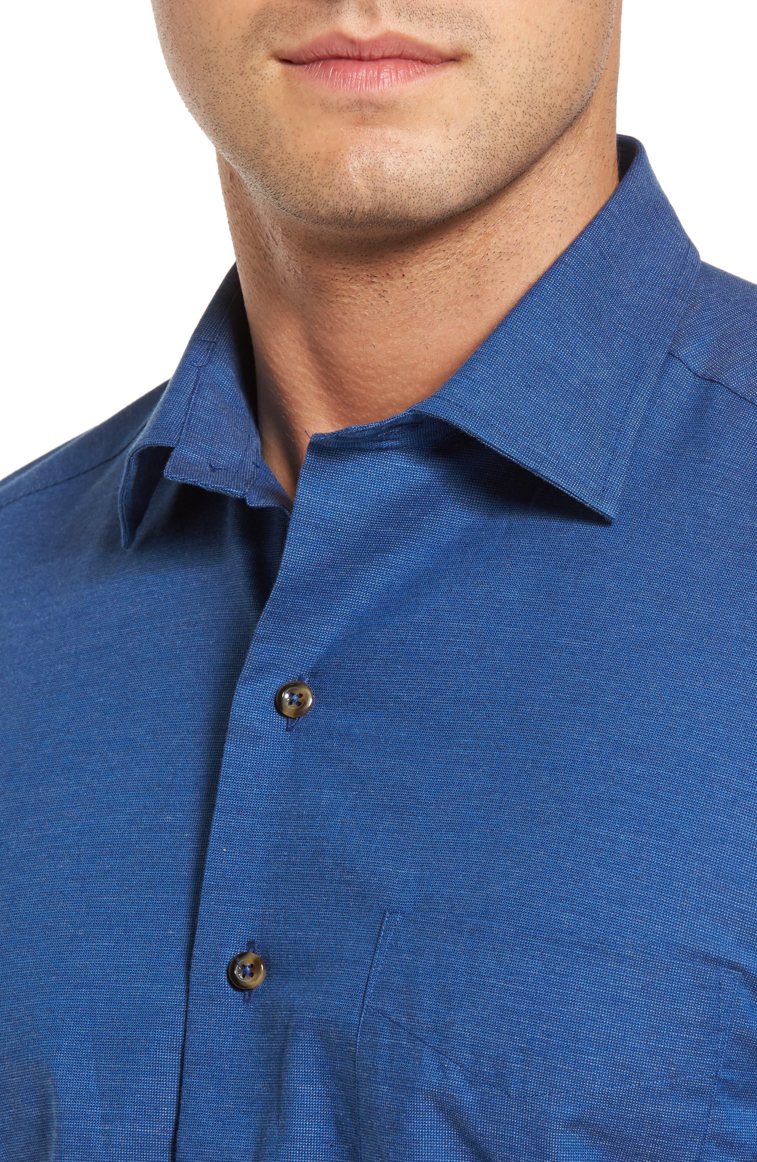 Regular Fit Woven Sport Shirt,                             Alternate thumbnail 4, color,