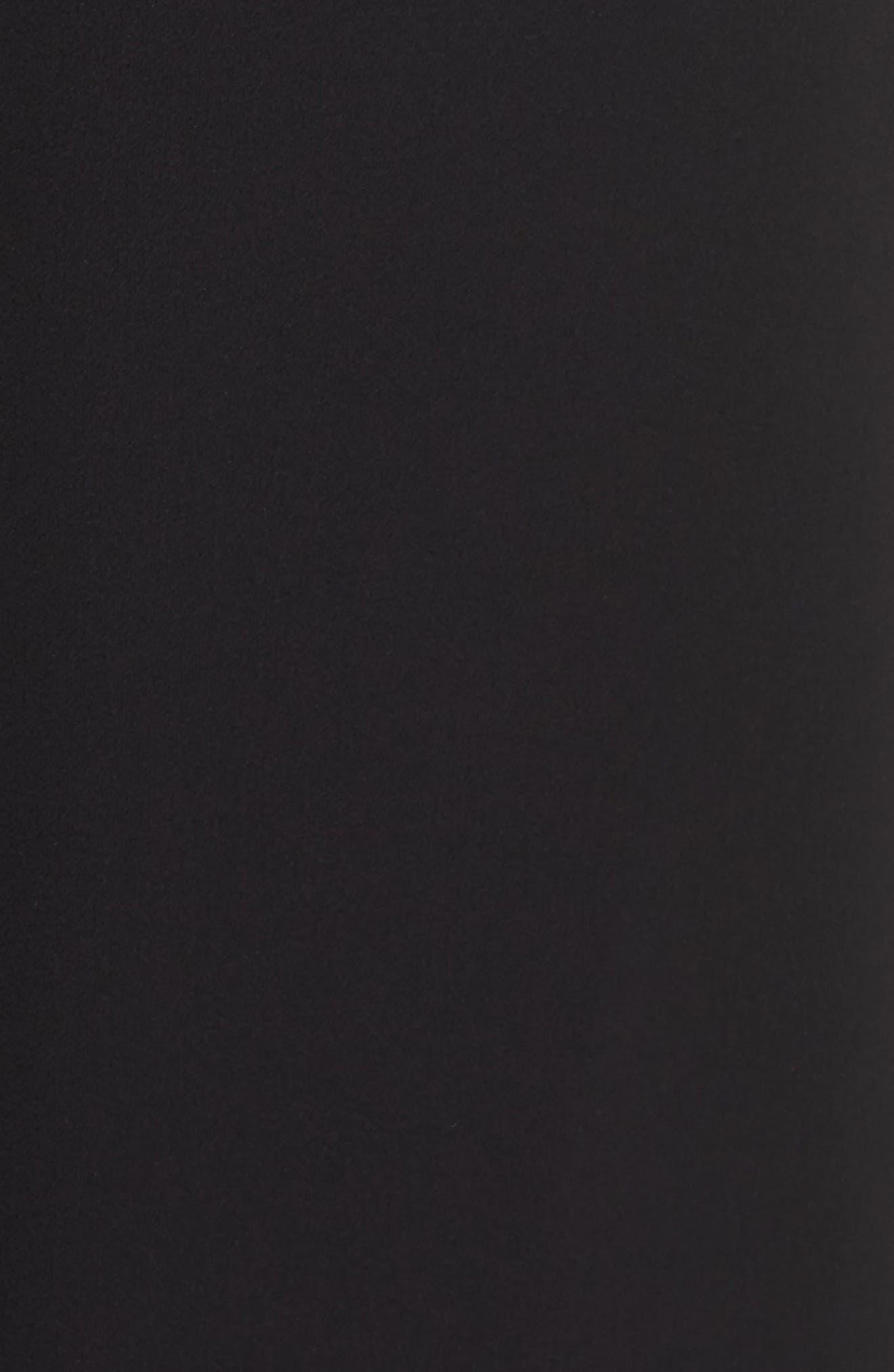 Embellished Belt Strapless Velvet & Crepe Jumpsuit,                             Alternate thumbnail 6, color,                             001