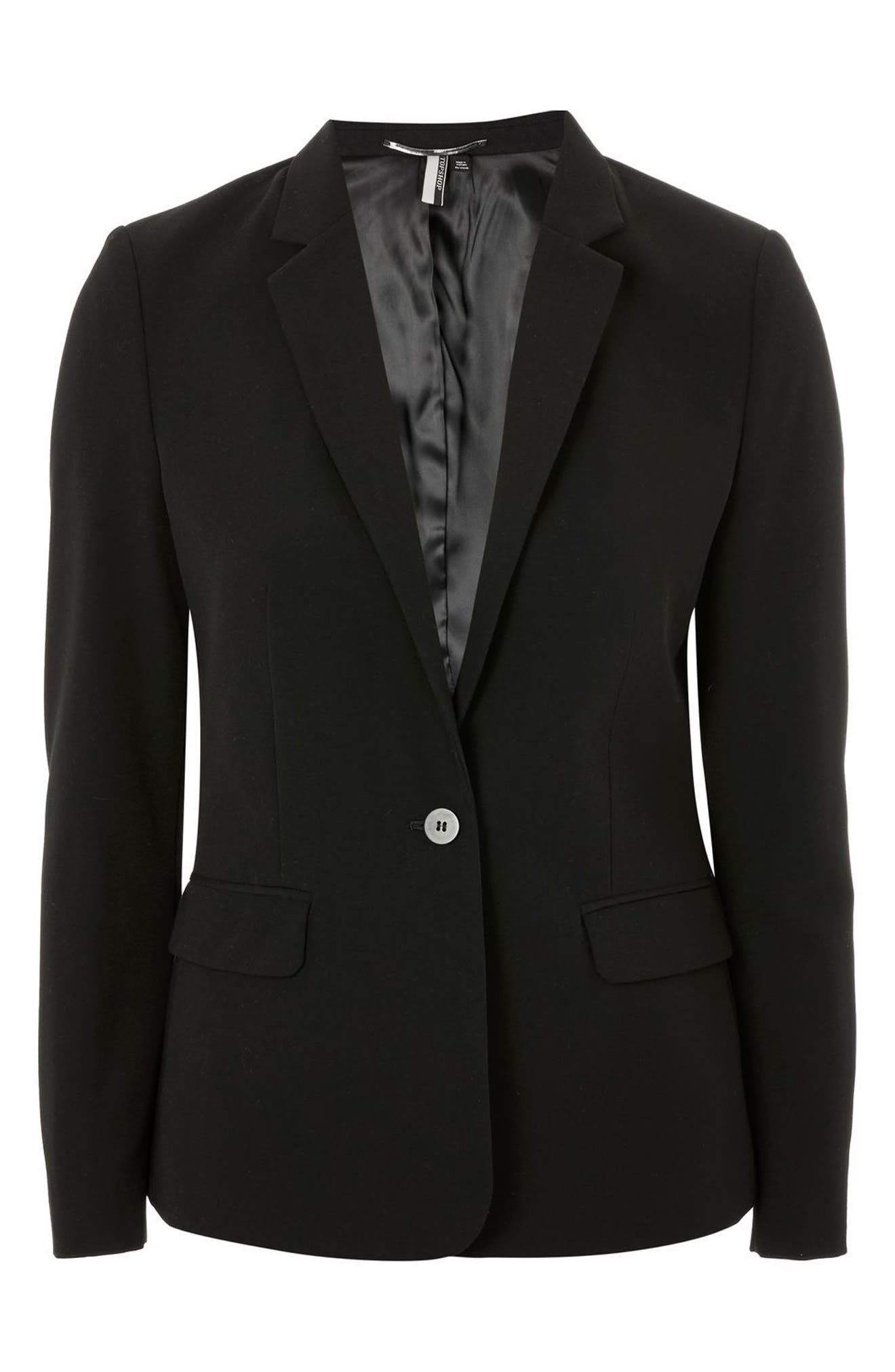 Single Breasted Suit Jacket,                             Alternate thumbnail 3, color,                             001
