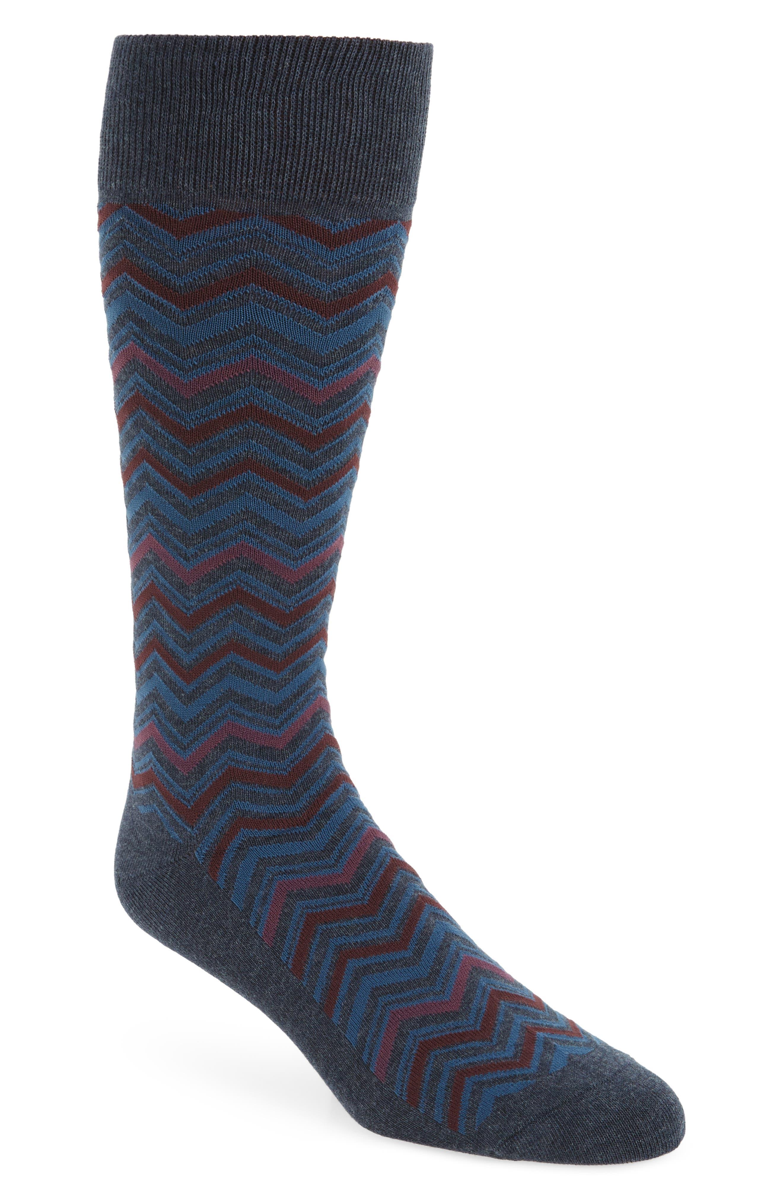 Chevron Socks,                         Main,                         color,