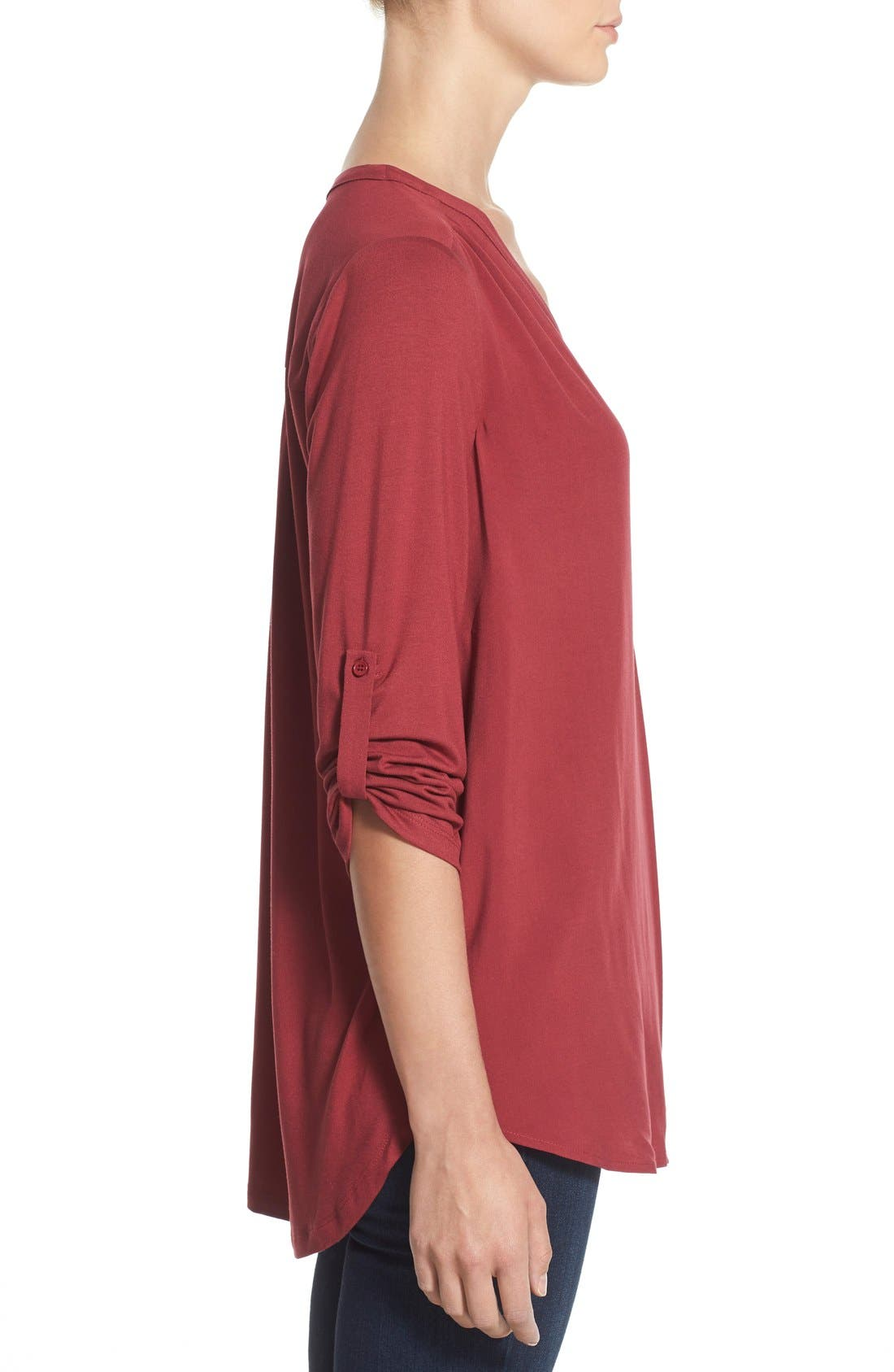 Mixed Media V-Neck Tunic,                             Alternate thumbnail 167, color,