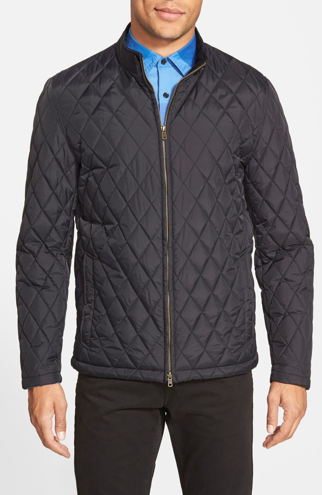 Quilted Moto Jacket,                             Main thumbnail 1, color,